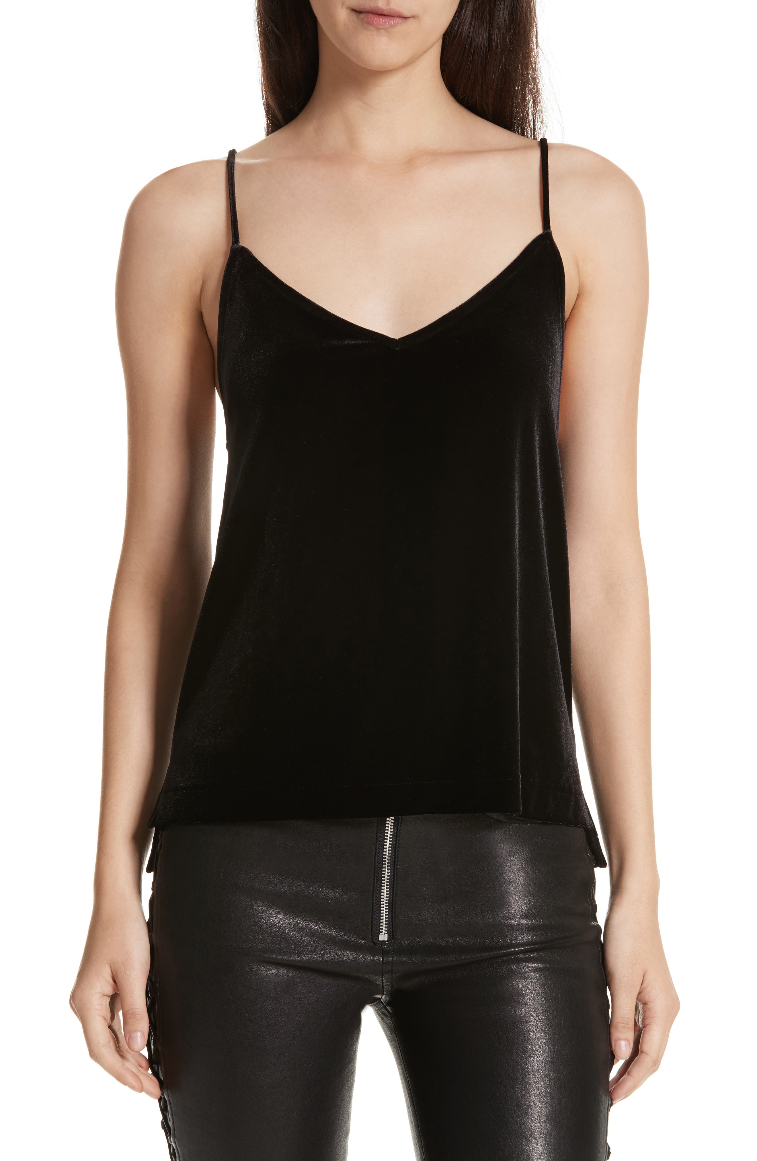 Amber Velvet Camisole,                         Main,                         color, 001