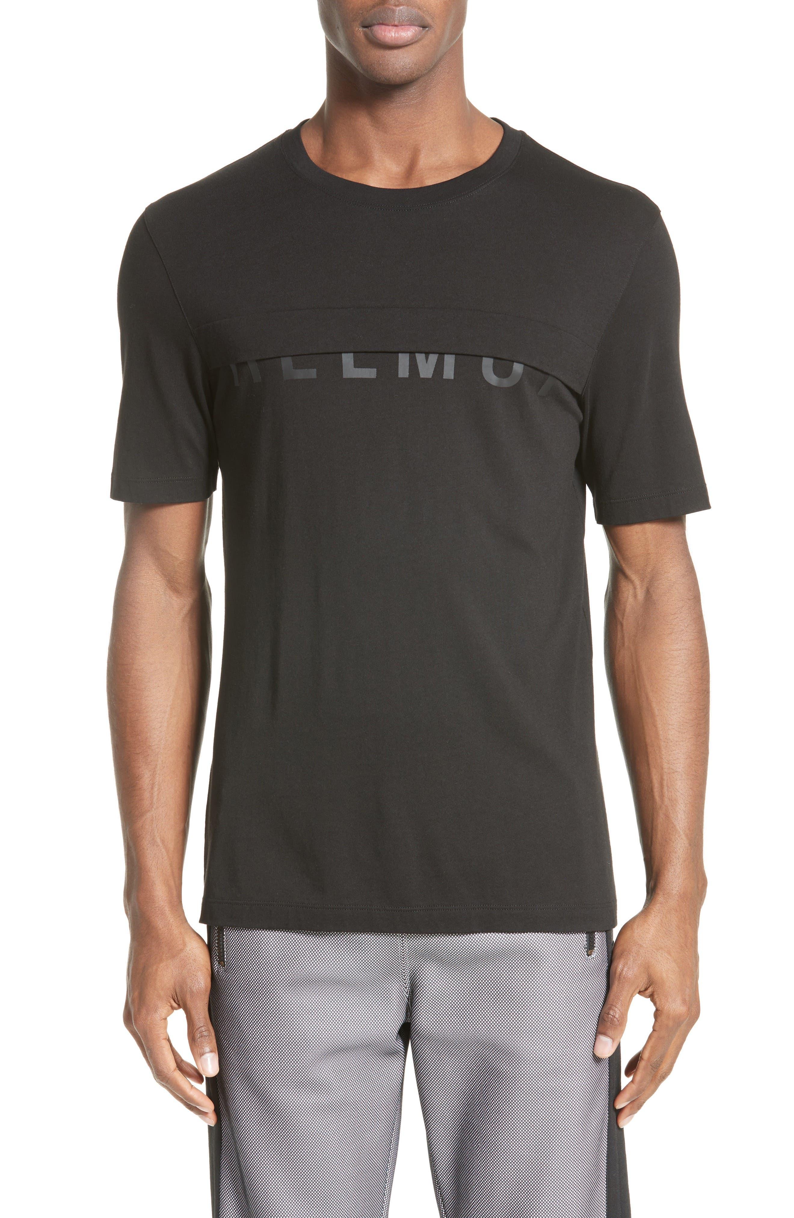 Half Logo Layered T-Shirt,                             Main thumbnail 1, color,                             001