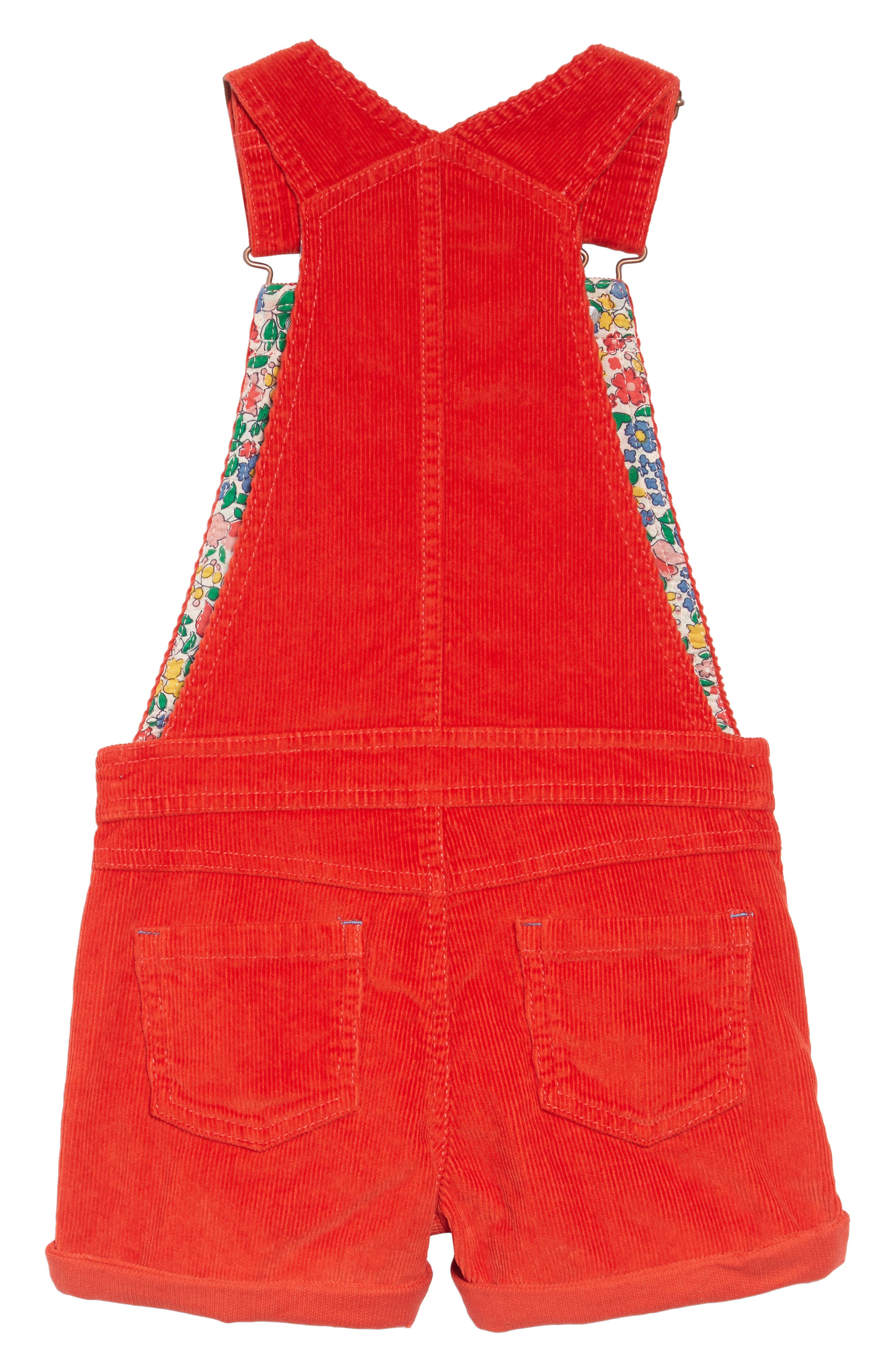 Dungarees Short Overalls,                             Alternate thumbnail 2, color,                             RED POPPY RED