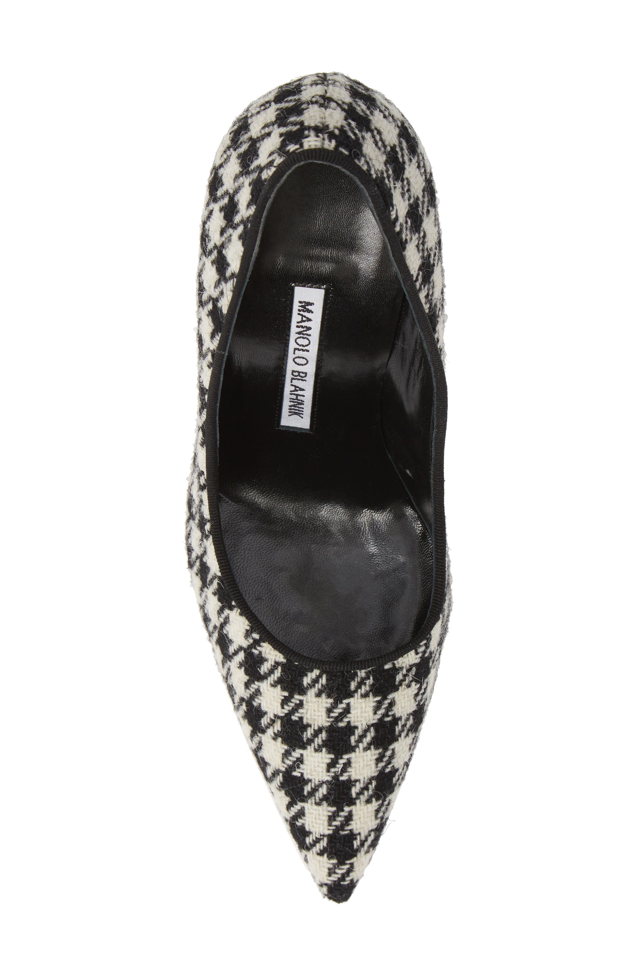 BB Pointy Toe Pump,                             Alternate thumbnail 5, color,                             HOUNDSTOOTH