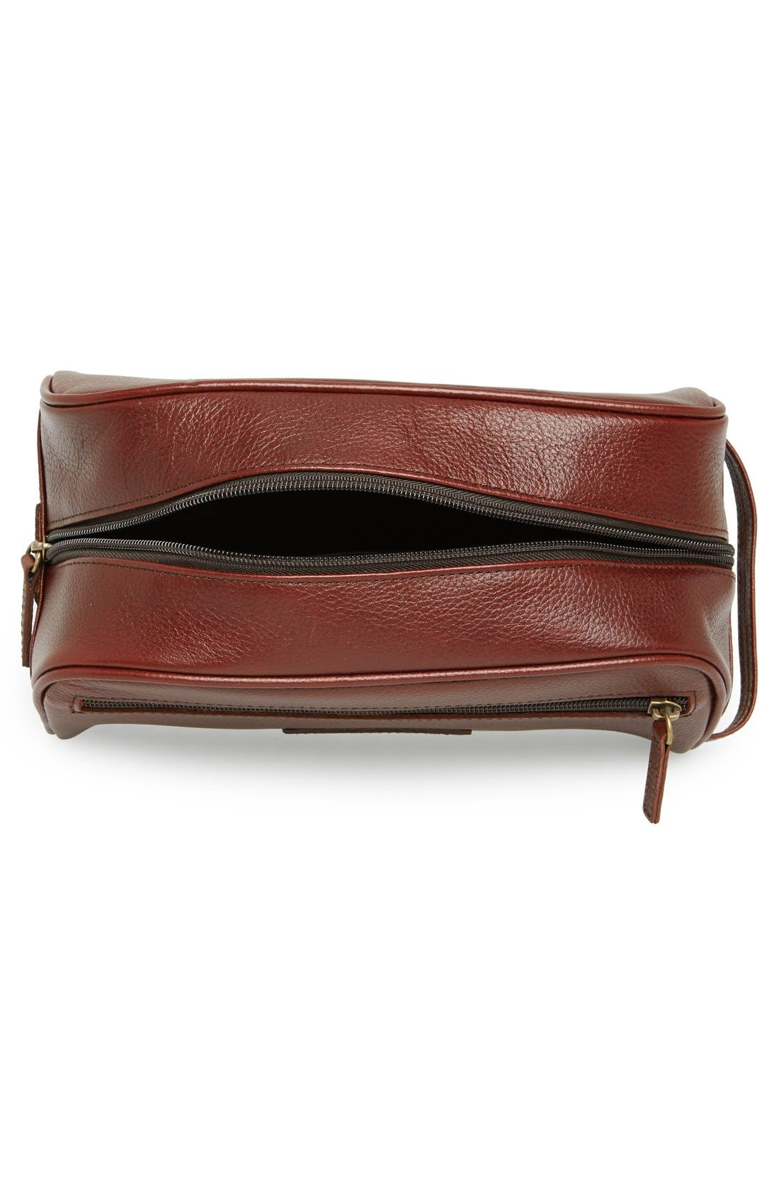 Leather Travel Kit,                             Alternate thumbnail 2, color,                             DARK BROWN