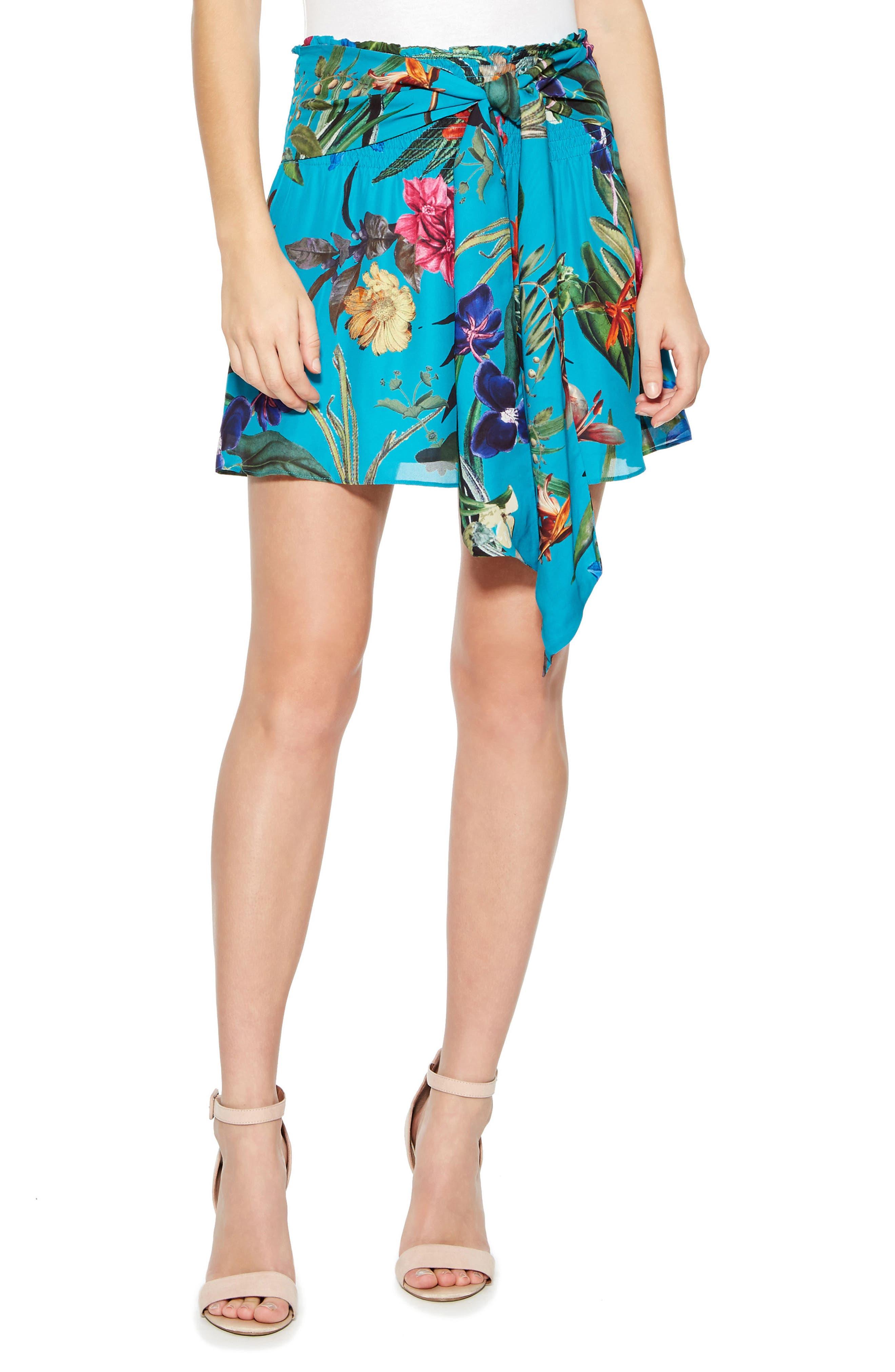 Bridgette Skirt,                         Main,                         color, AZULE SARDINIA