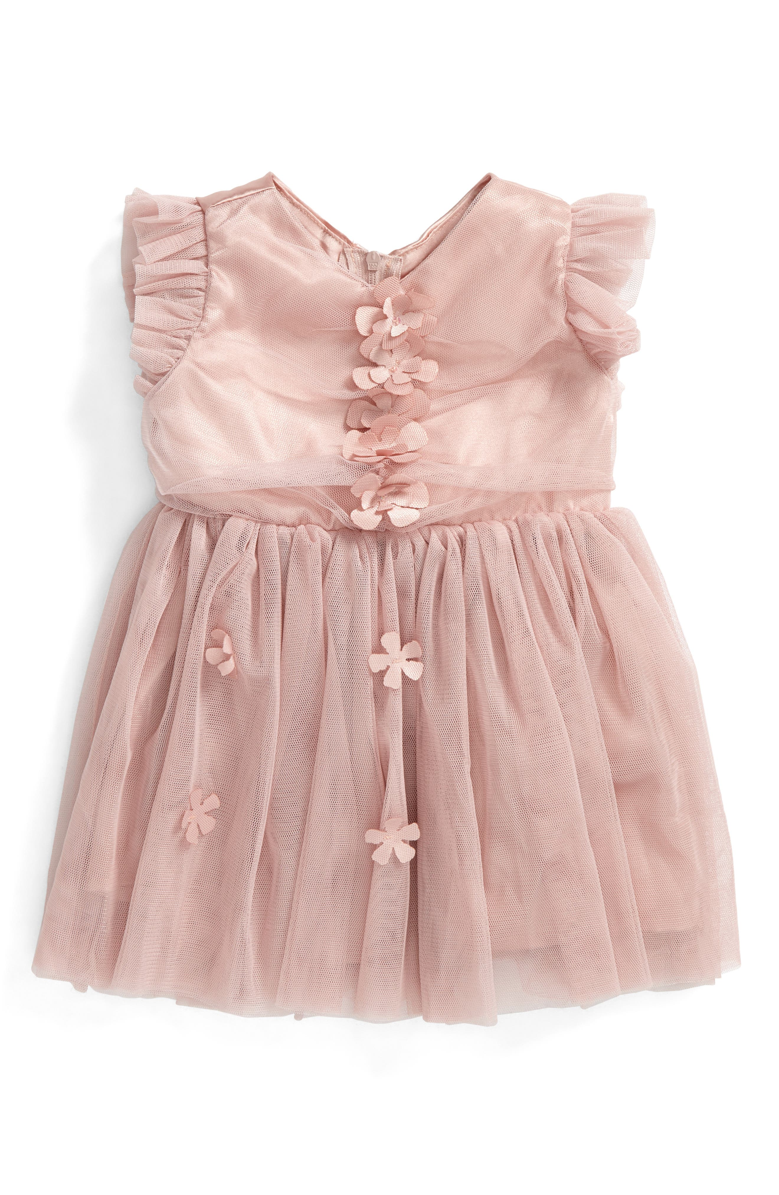 Tulle Dress,                             Alternate thumbnail 2, color,                             DUSTY PINK