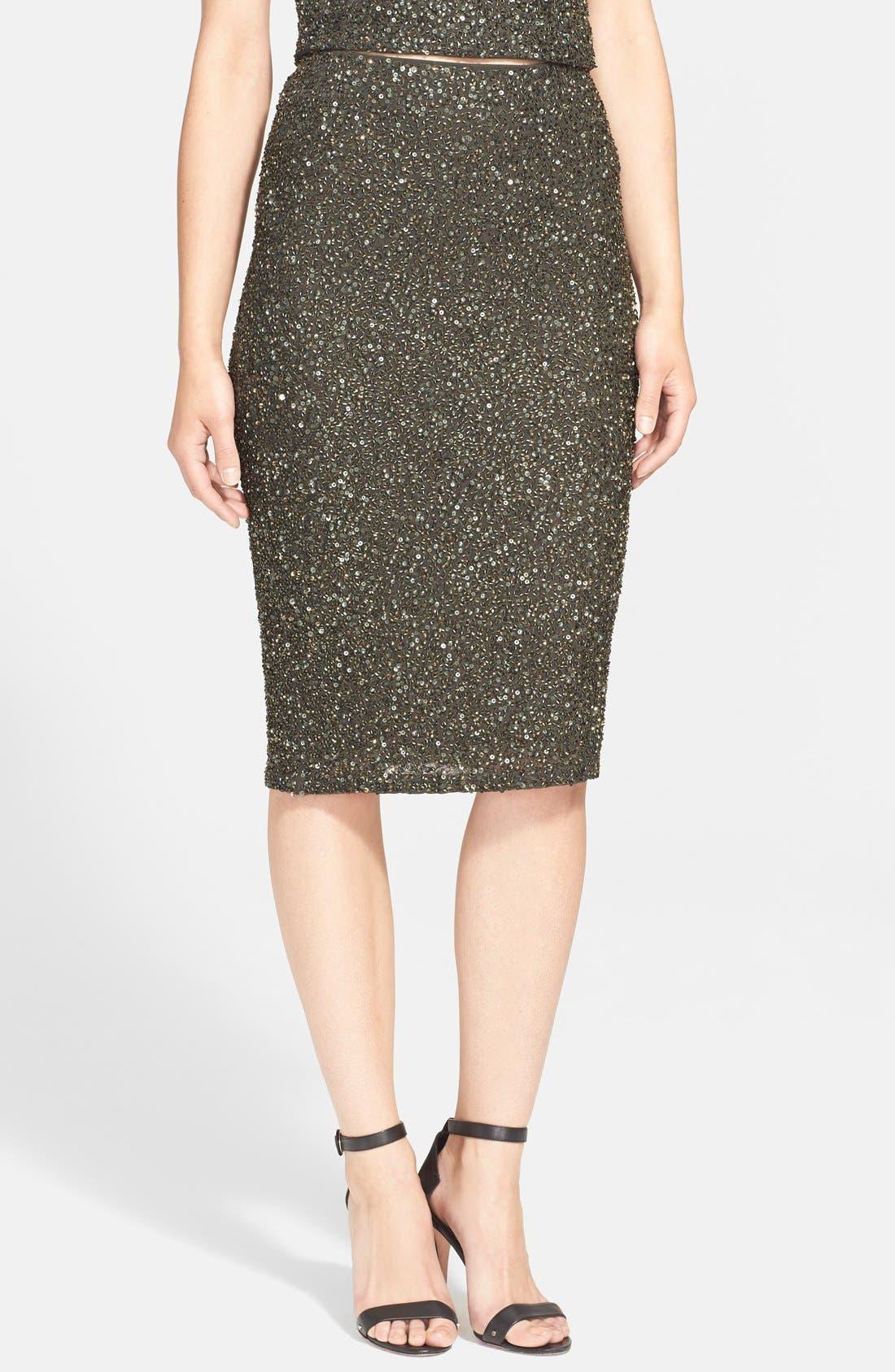 'Ramos' Embellished Skirt, Main, color, 010