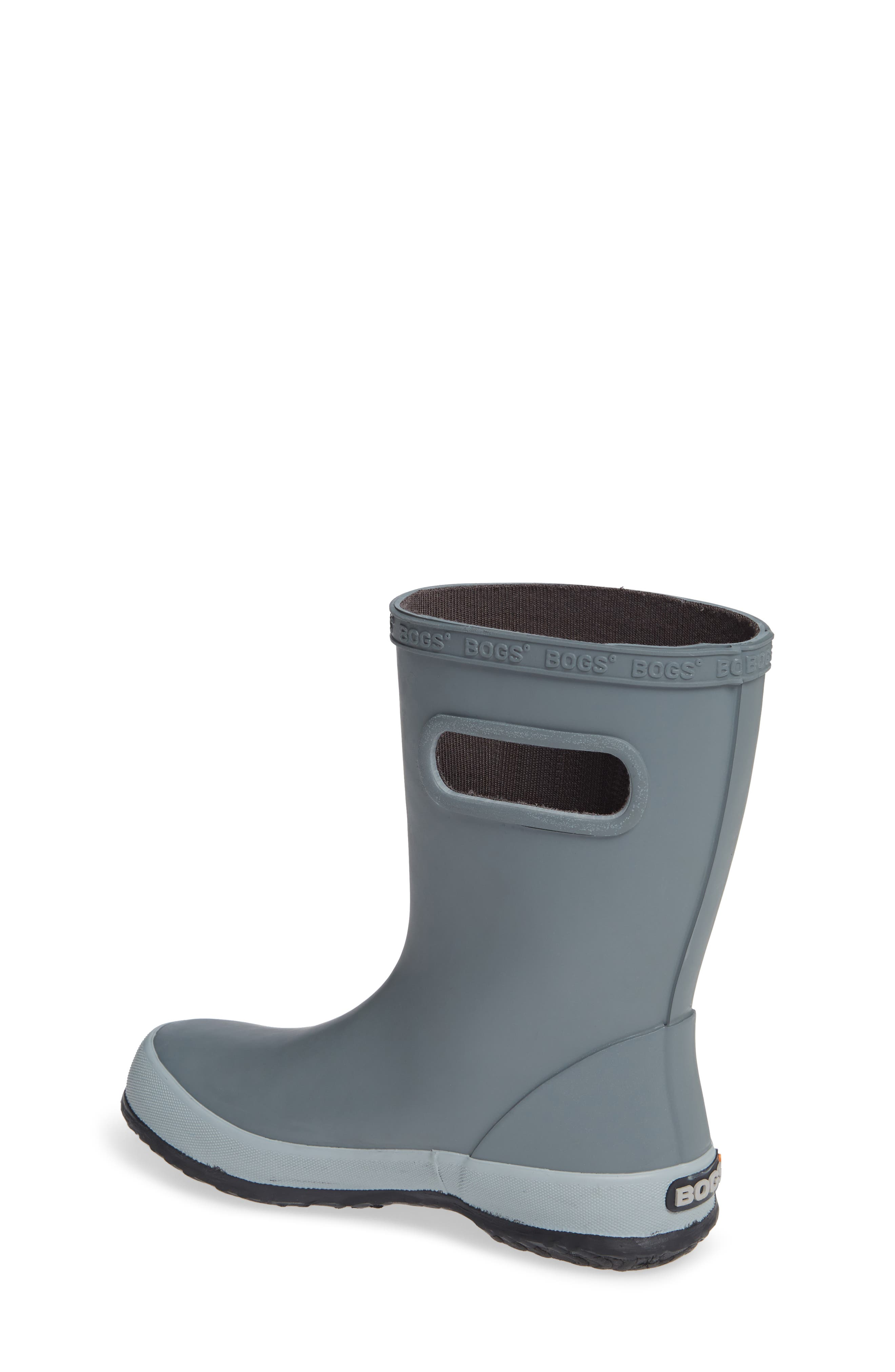 Skipper Solid Rubber Rain Boot,                             Alternate thumbnail 2, color,                             GRAY