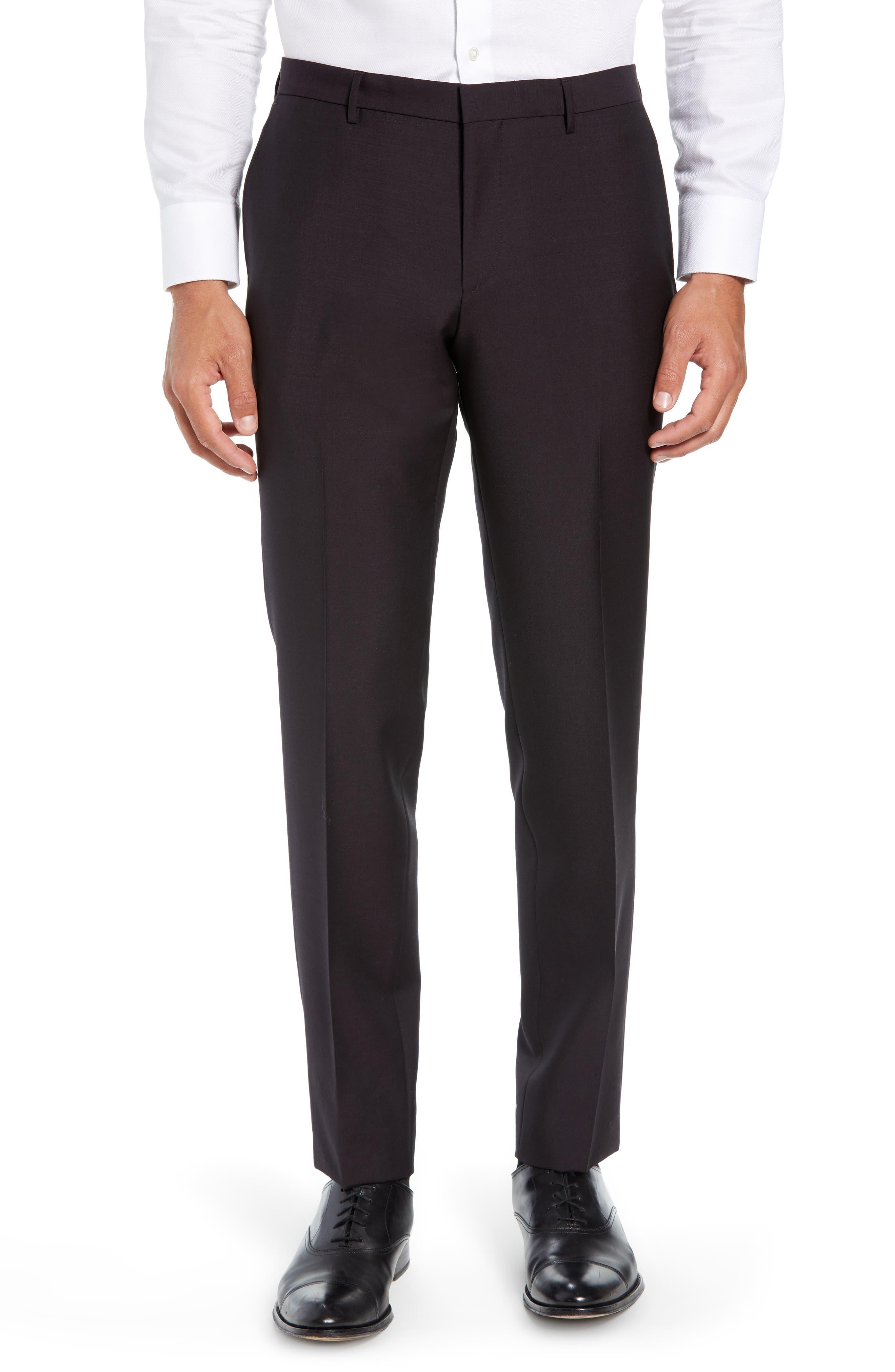 Novan/Ben Trim Fit Solid Wool & Mohair Suit,                             Alternate thumbnail 6, color,                             DARK PURPLE