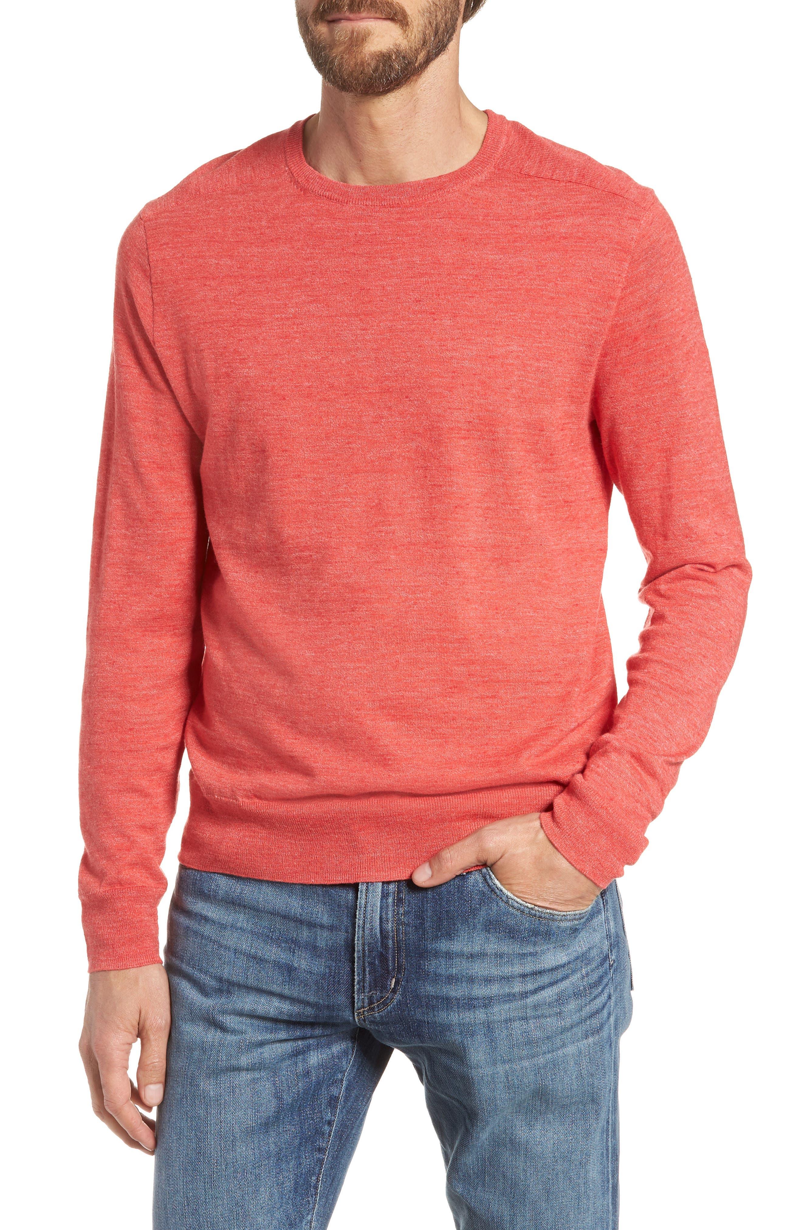 Cotton Blend Crewneck Sweater,                             Main thumbnail 4, color,