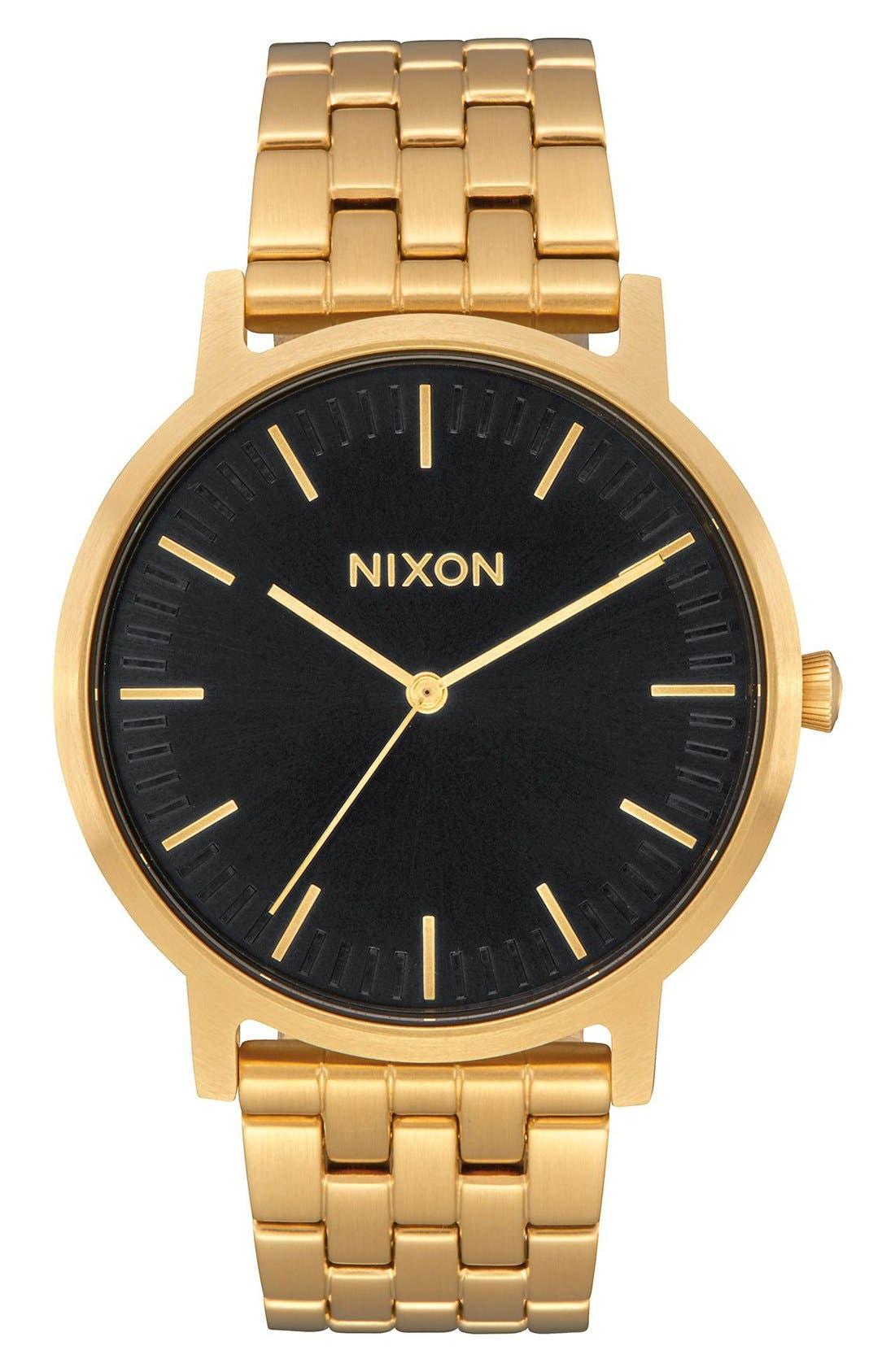Porter Bracelet Watch, 40mm,                         Main,                         color, ALL GOLD / BLACK