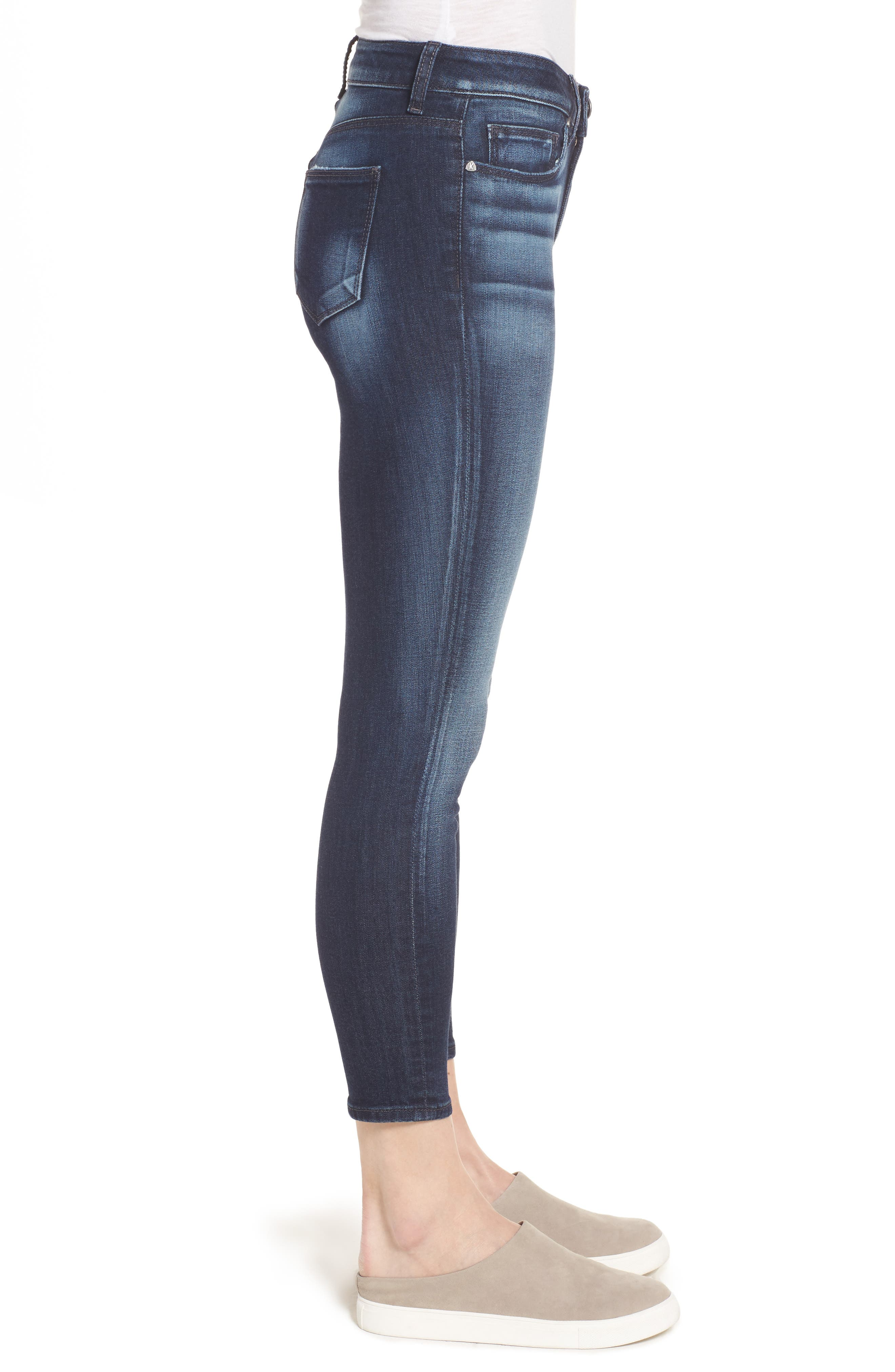 Diana Curvy Fit Crop Skinny Jeans,                             Alternate thumbnail 3, color,                             470
