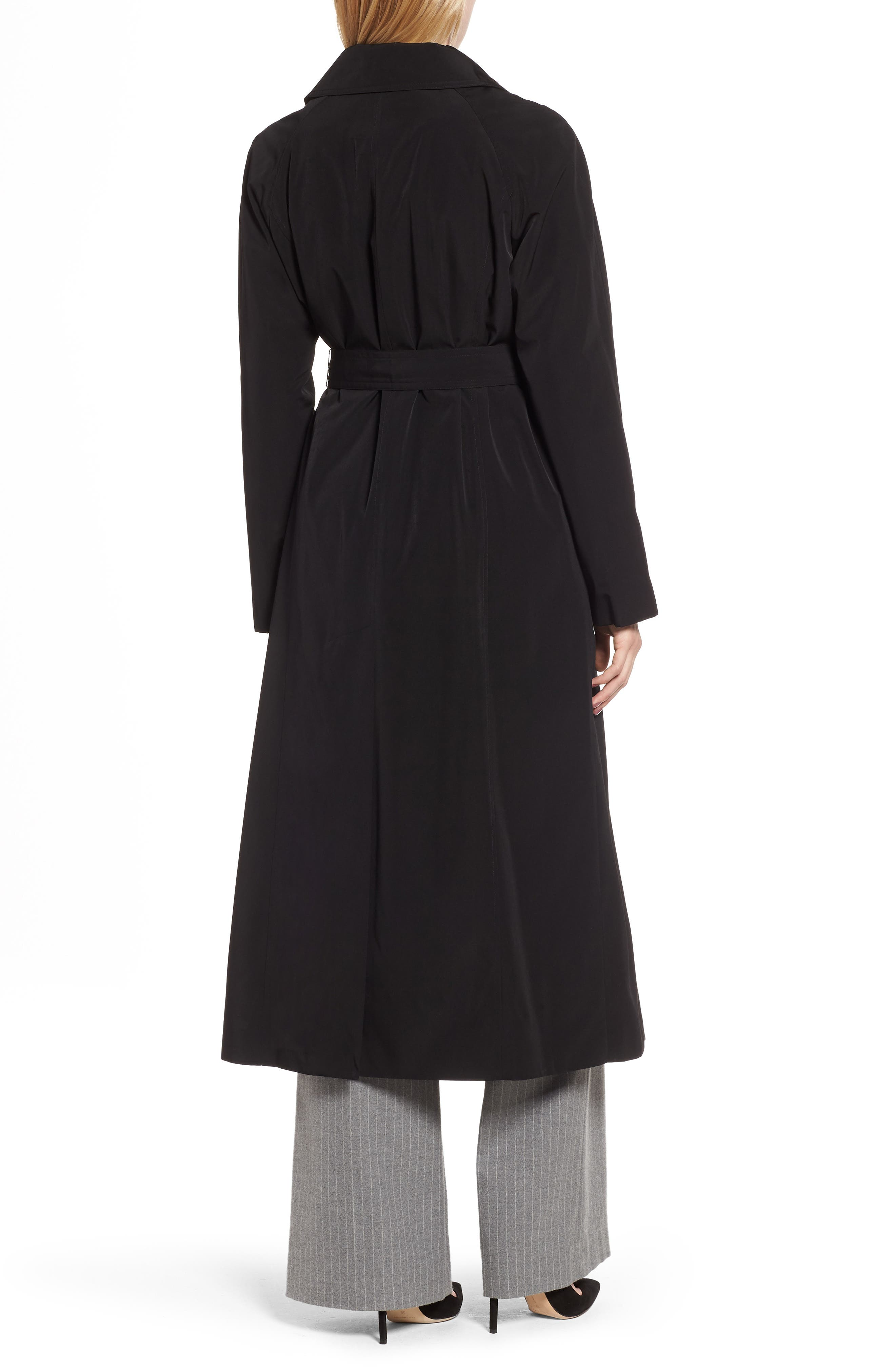 Long Trench Coat with Detachable Hood & Liner,                             Alternate thumbnail 2, color,                             BLACK