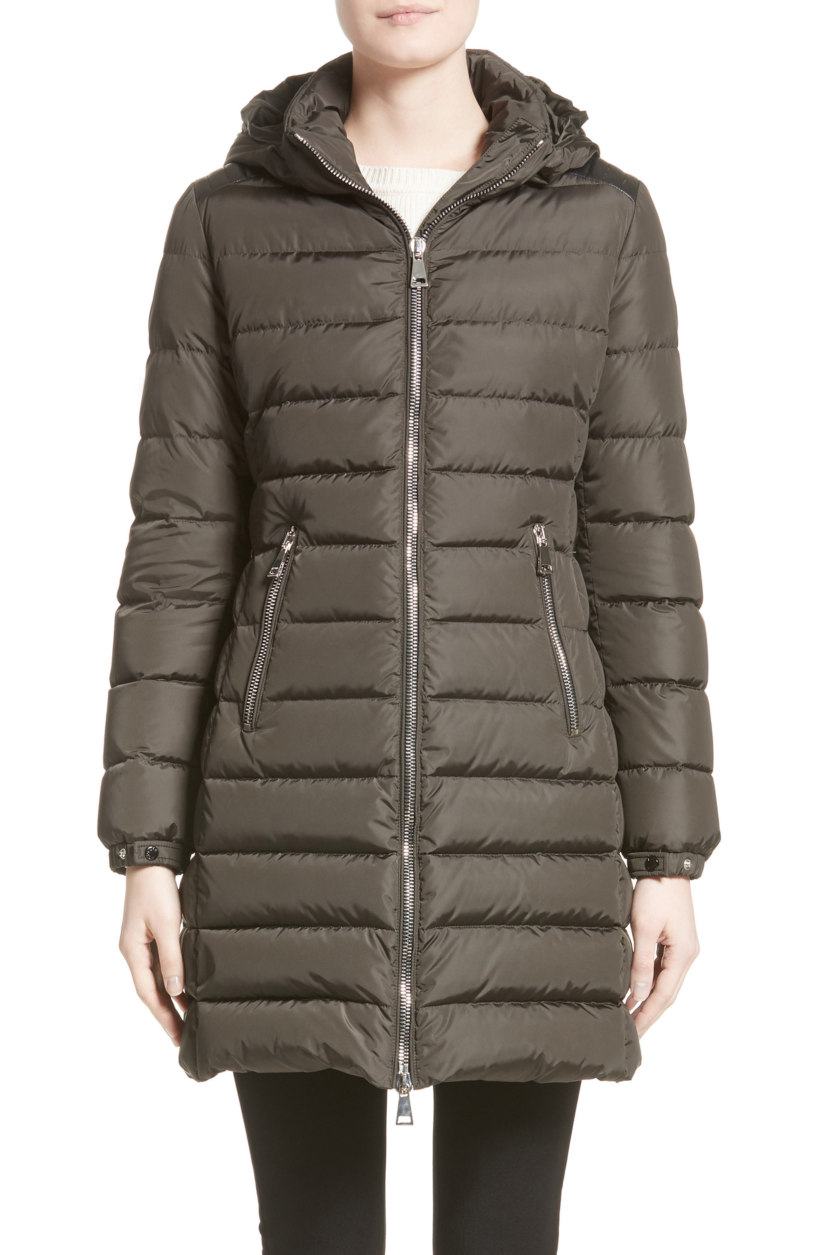 Orophin Hooded Down Puffer Coat,                             Main thumbnail 1, color,                             OLIVE