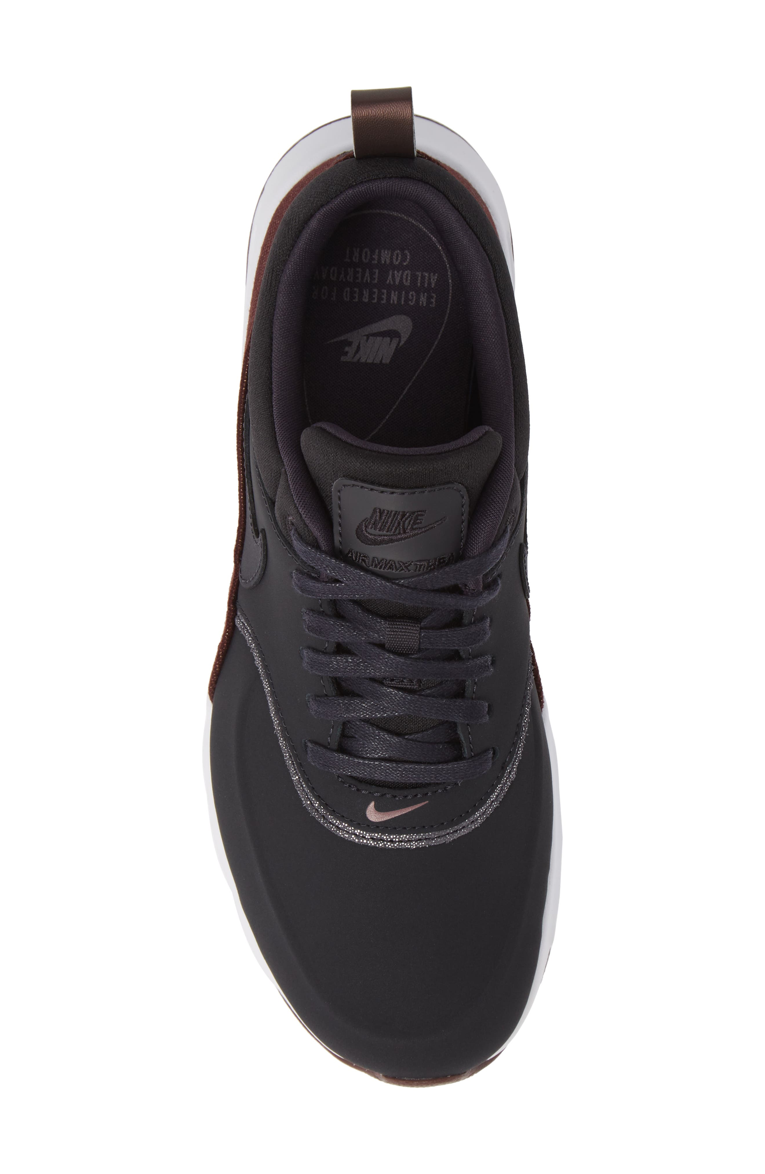 Air Max Thea Sneaker,                             Alternate thumbnail 5, color,                             OIL GREY/ OIL GREY/ MAHOGANY