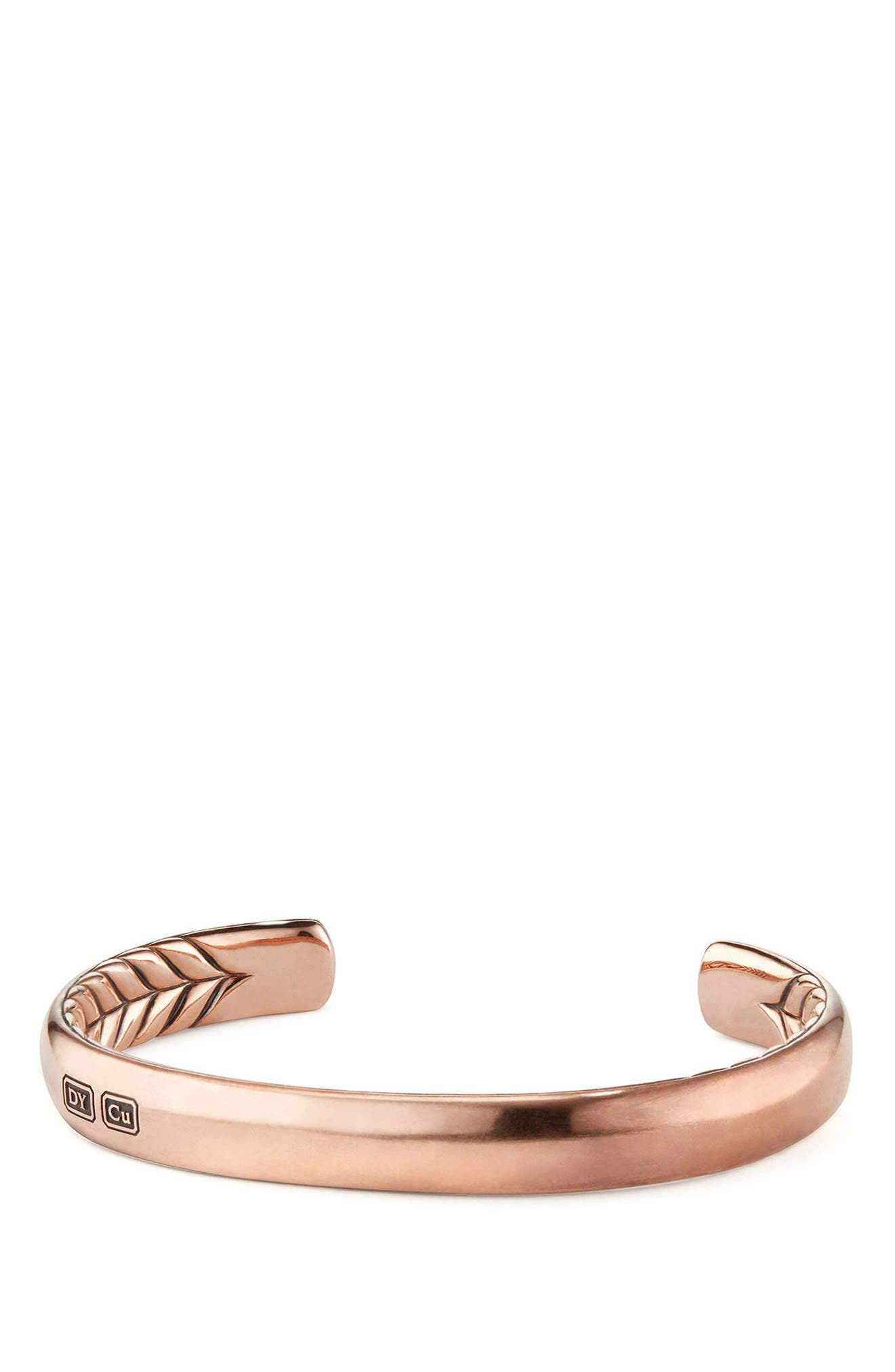 Titian Streamline Cuff Bracelet in Copper,                         Main,                         color, COPPER