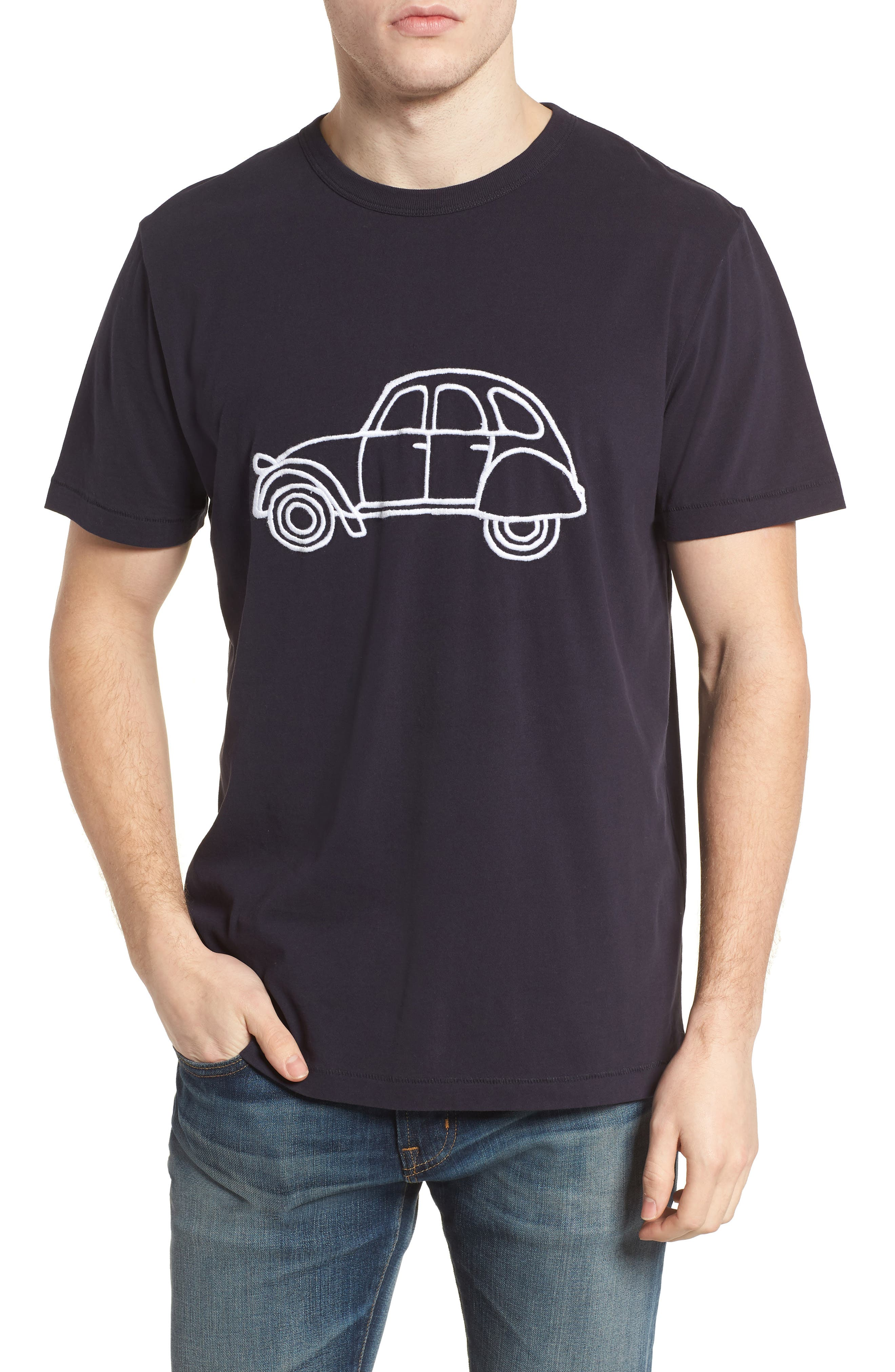 Car Slim Fit Crewneck T-Shirt,                             Main thumbnail 1, color,                             491