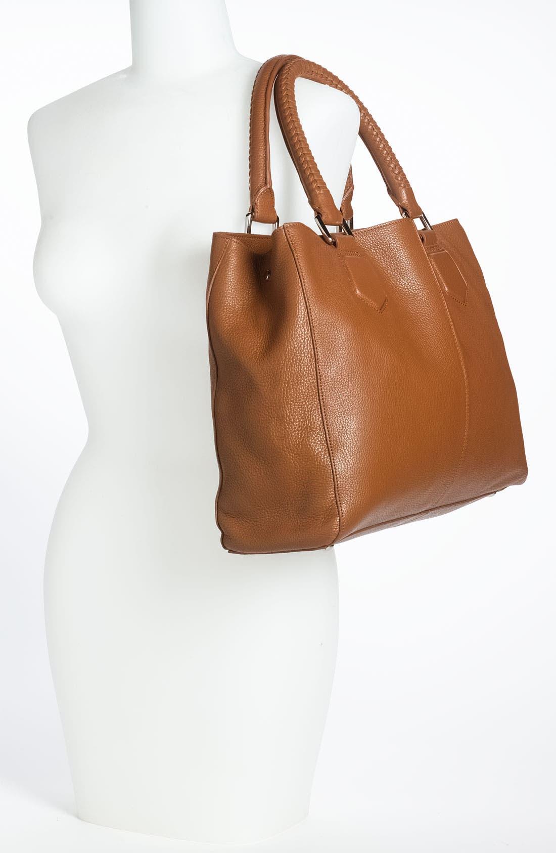 'Mila' Leather Shoulder Bag,                             Alternate thumbnail 2, color,                             212