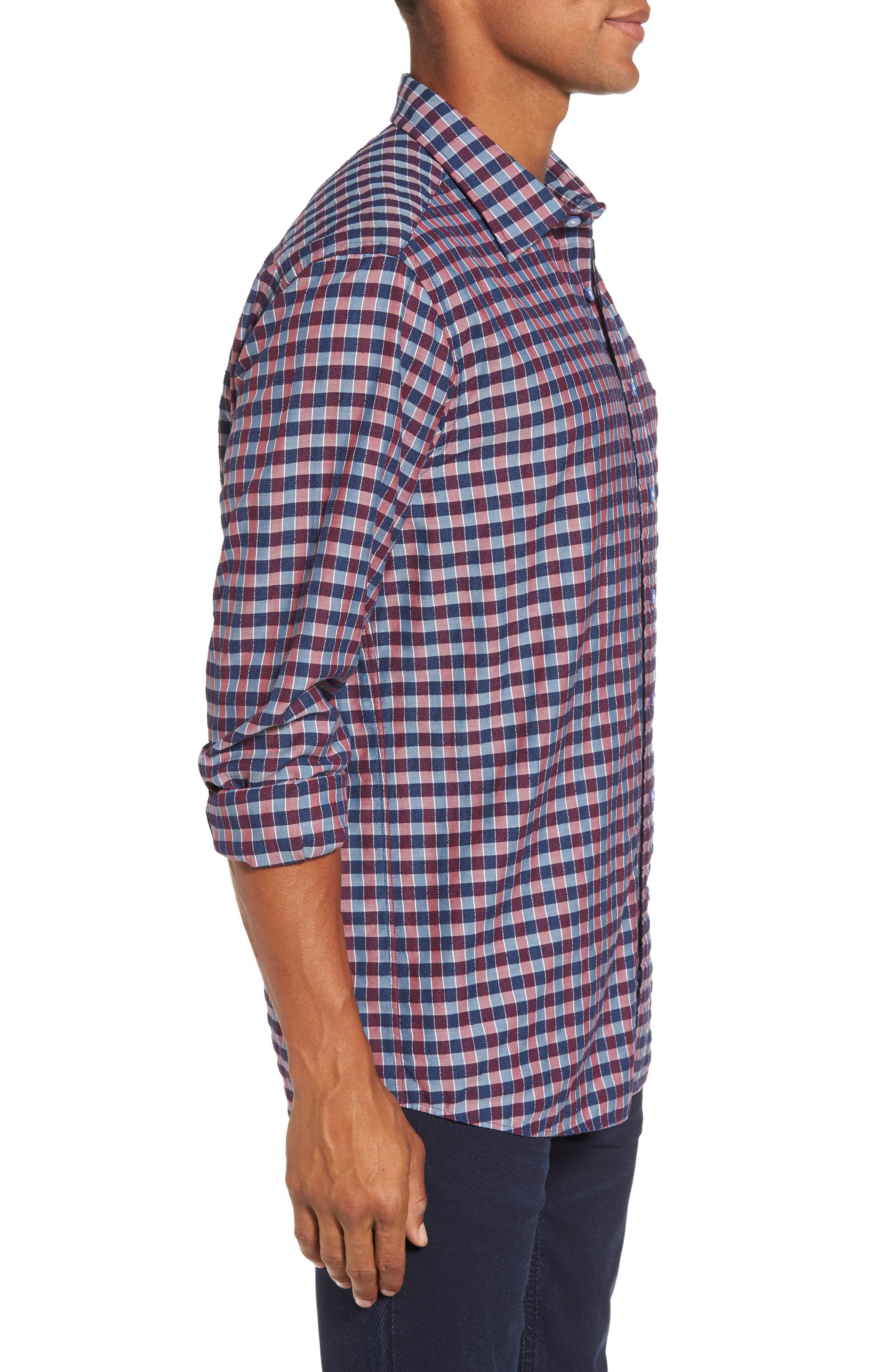 Mandeville Check Sport Shirt,                             Alternate thumbnail 3, color,                             413