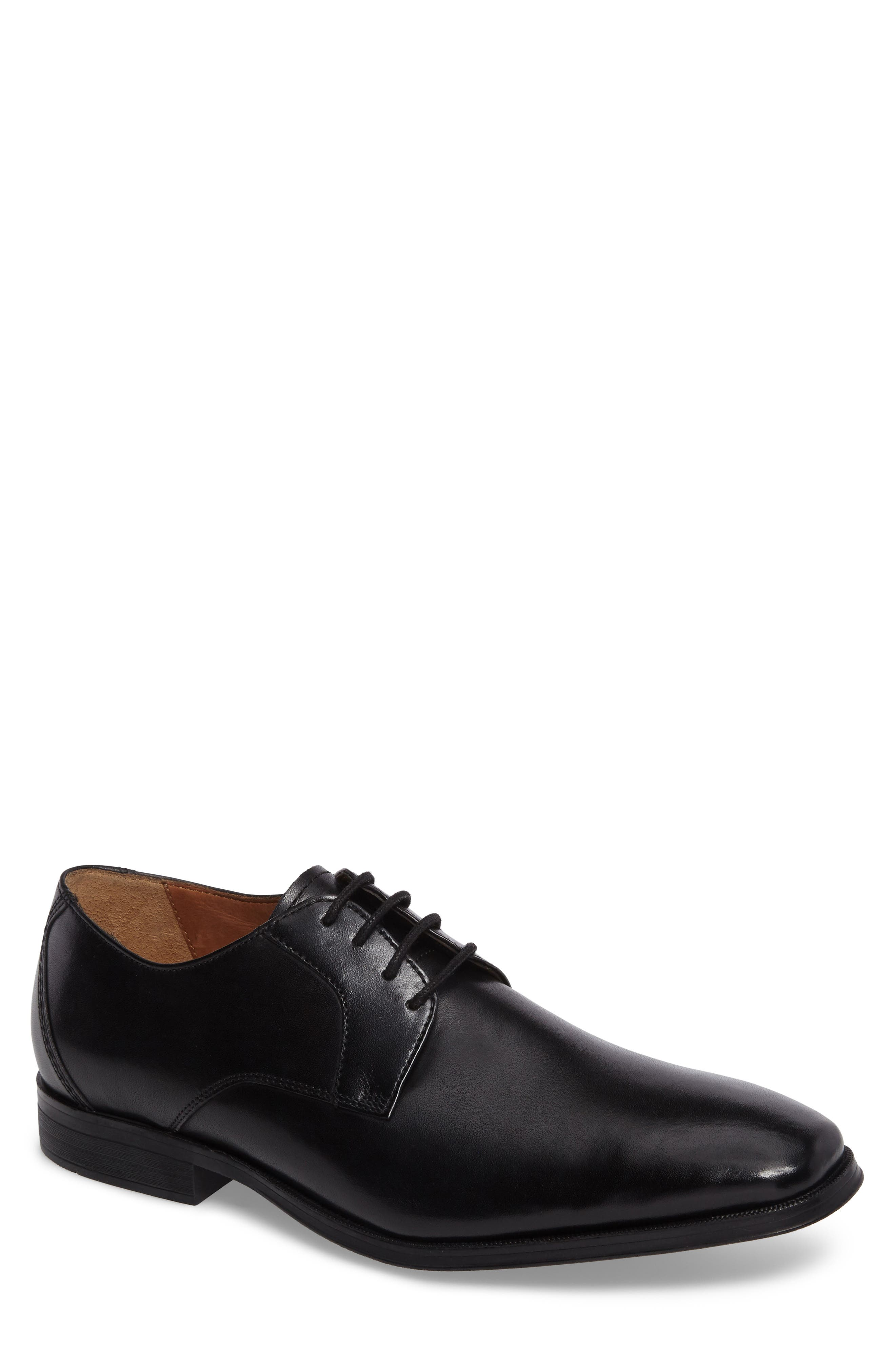 Gilman Lace Derby,                         Main,                         color, BLACK LEATHER