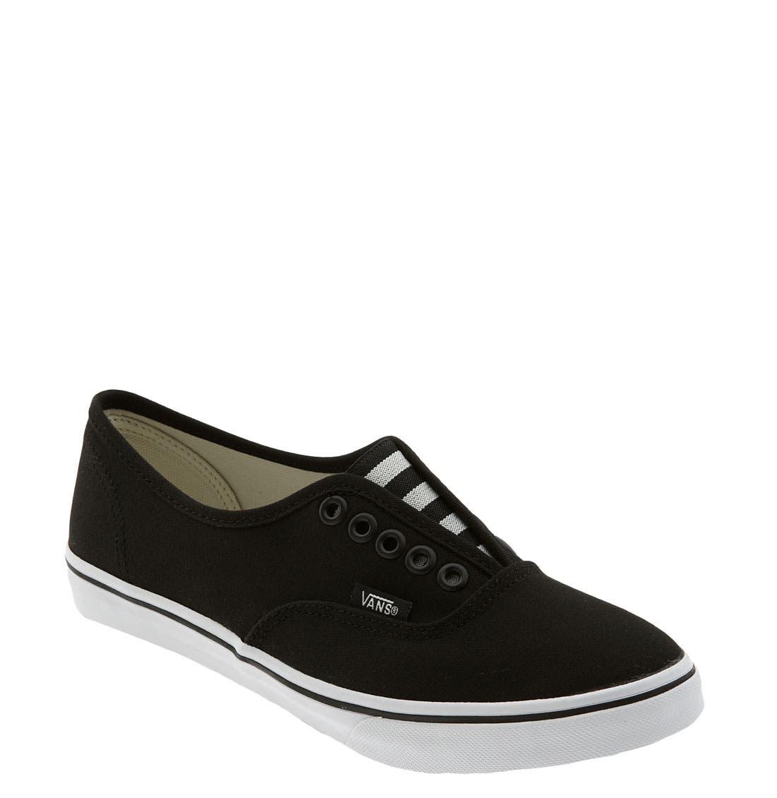 'Authentic - Lo Pro' Slip-On Sneaker,                             Main thumbnail 1, color,                             001
