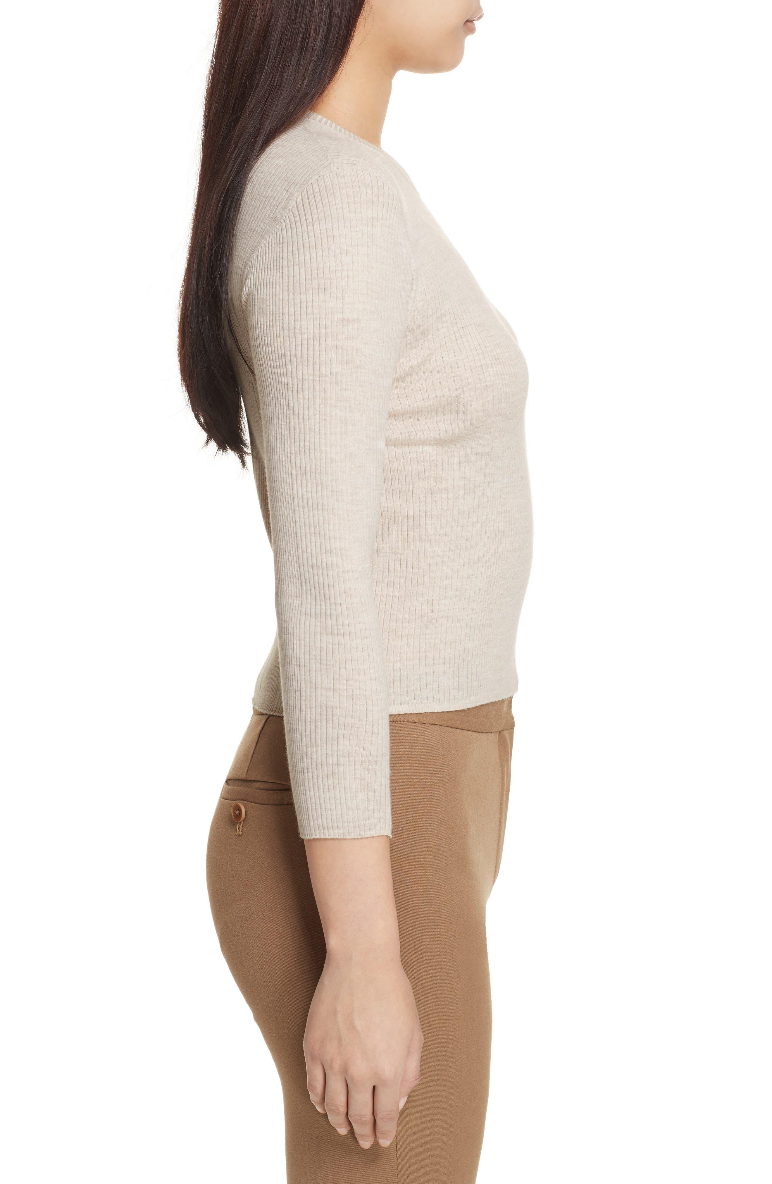 Merino Wool Blend Sweater,                             Alternate thumbnail 3, color,                             254