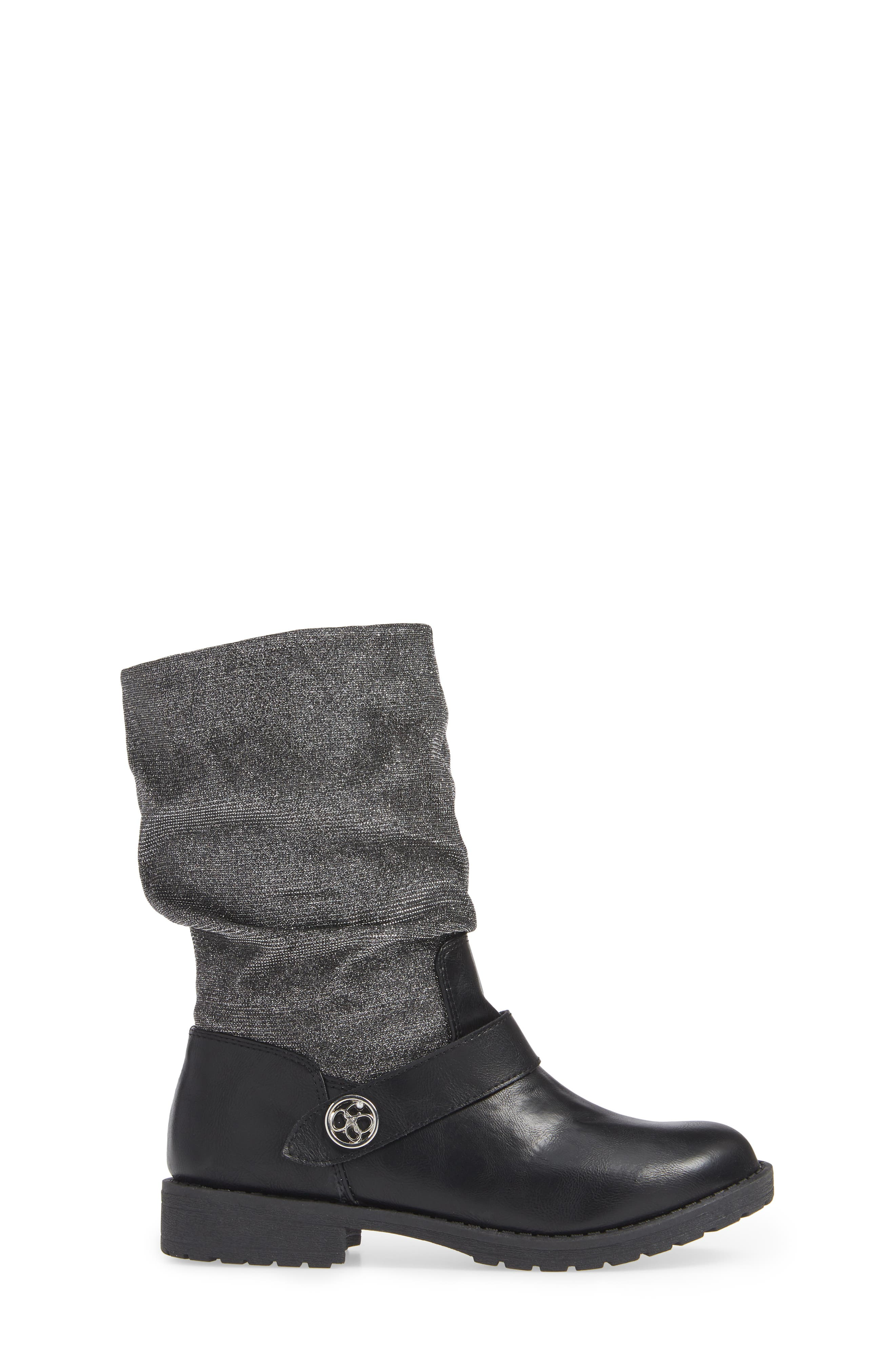 Slouchy Boot,                             Alternate thumbnail 3, color,                             BLACK