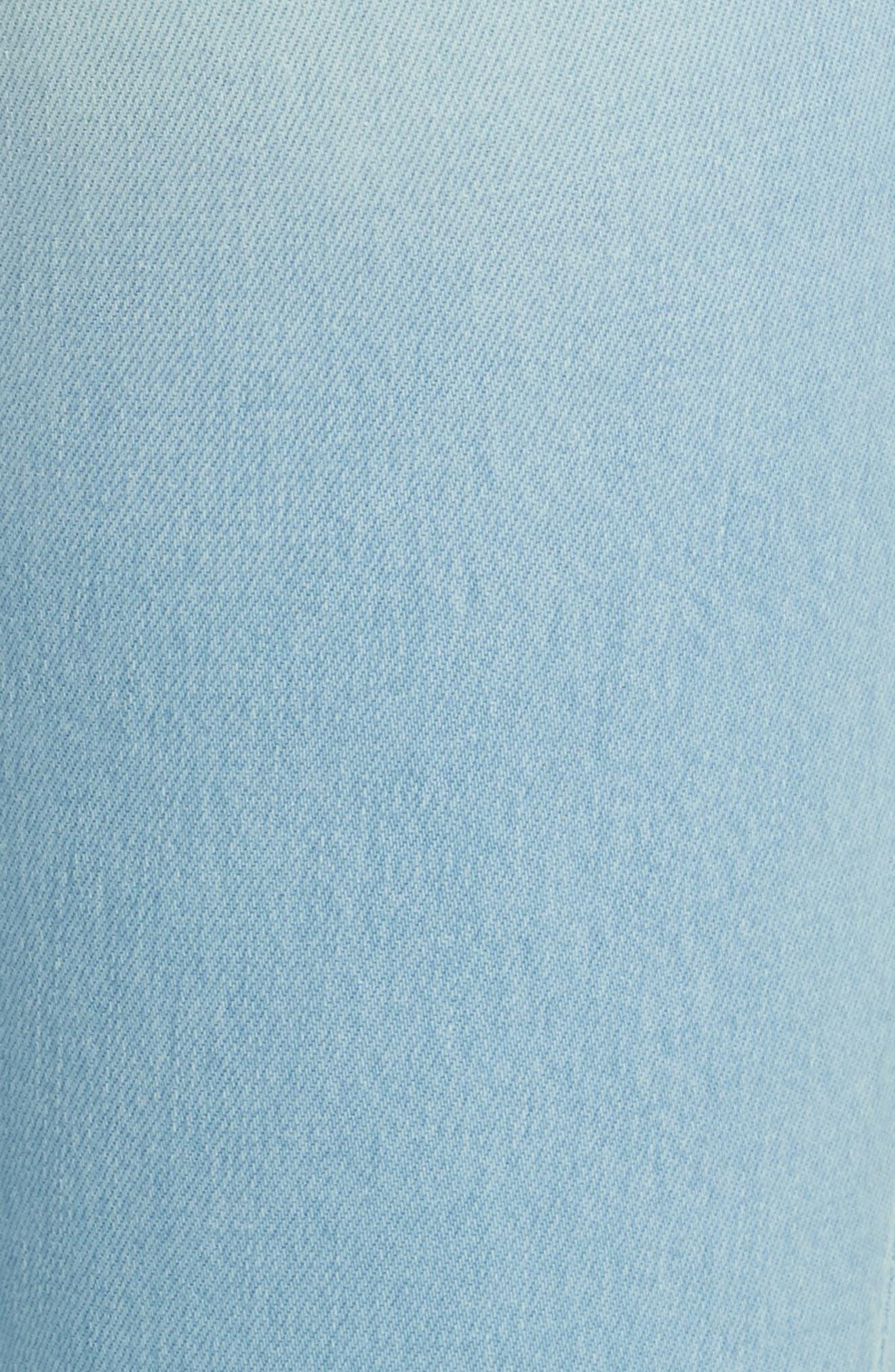 Le Crop Gusset Step Hem Mini Boot Jeans,                             Alternate thumbnail 5, color,                             450