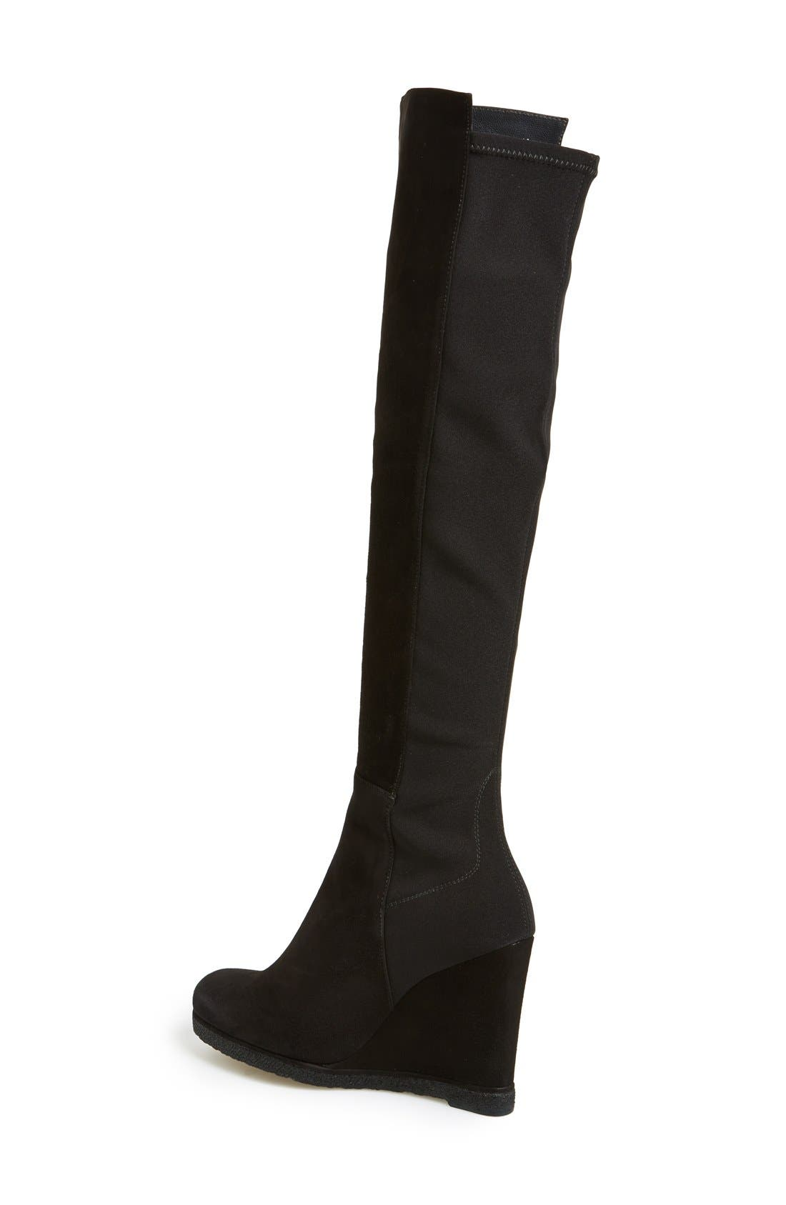 'Demiswoon' Over the Knee Boot,                             Alternate thumbnail 3, color,                             001