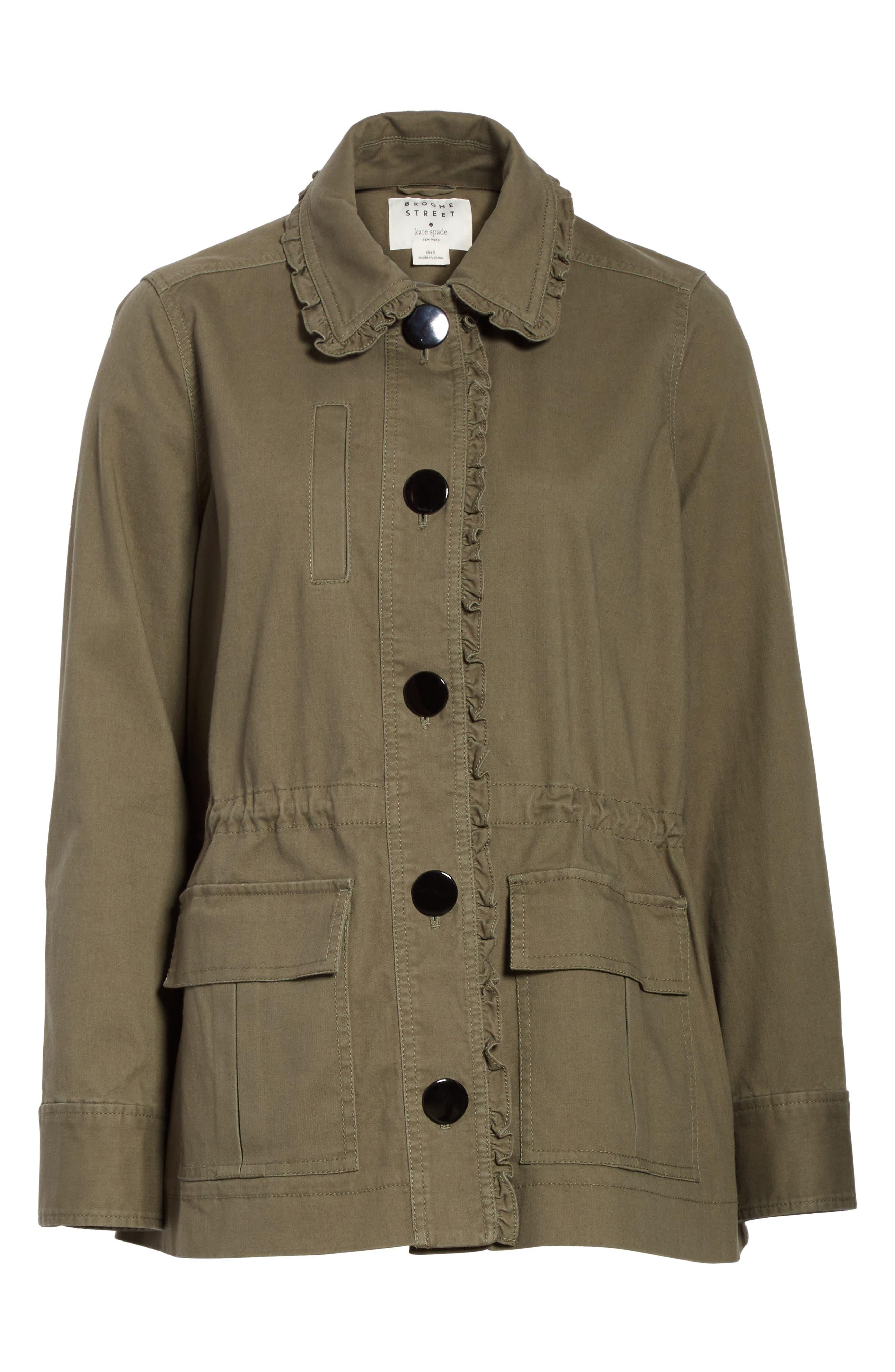 ruffle military jacket,                             Alternate thumbnail 5, color,                             301