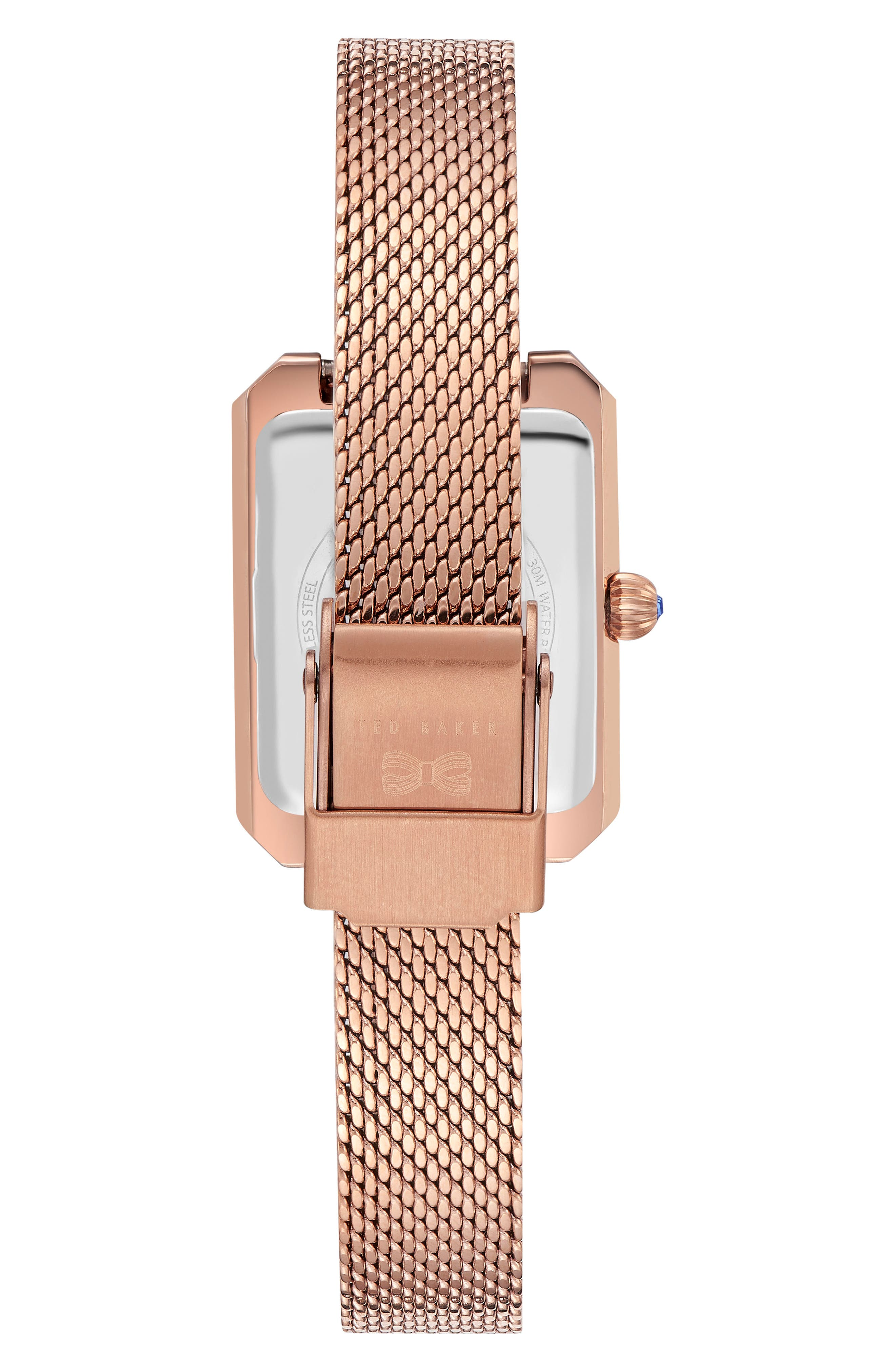 Cara Mesh Strap Watch, 22mm,                             Alternate thumbnail 2, color,                             ROSE GOLD/ PINK/ ROSE GOLD