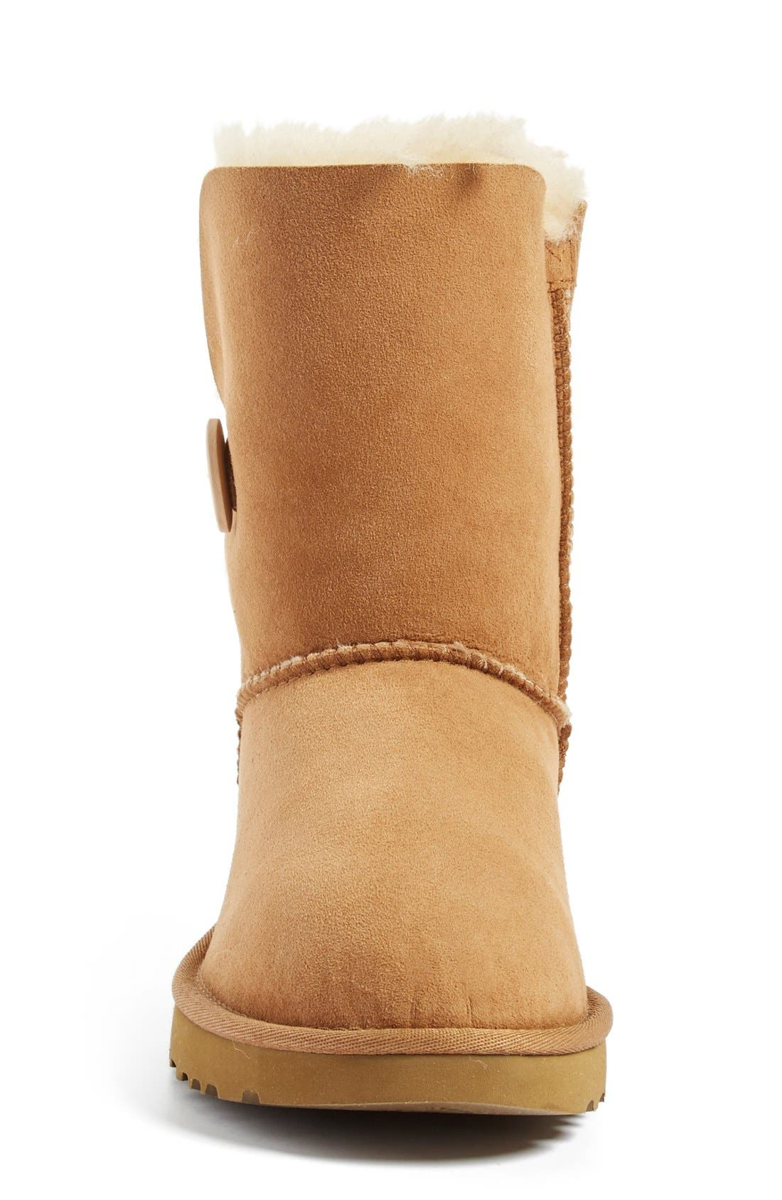Bailey Button II Boot,                             Alternate thumbnail 3, color,                             CHESTNUT SUEDE
