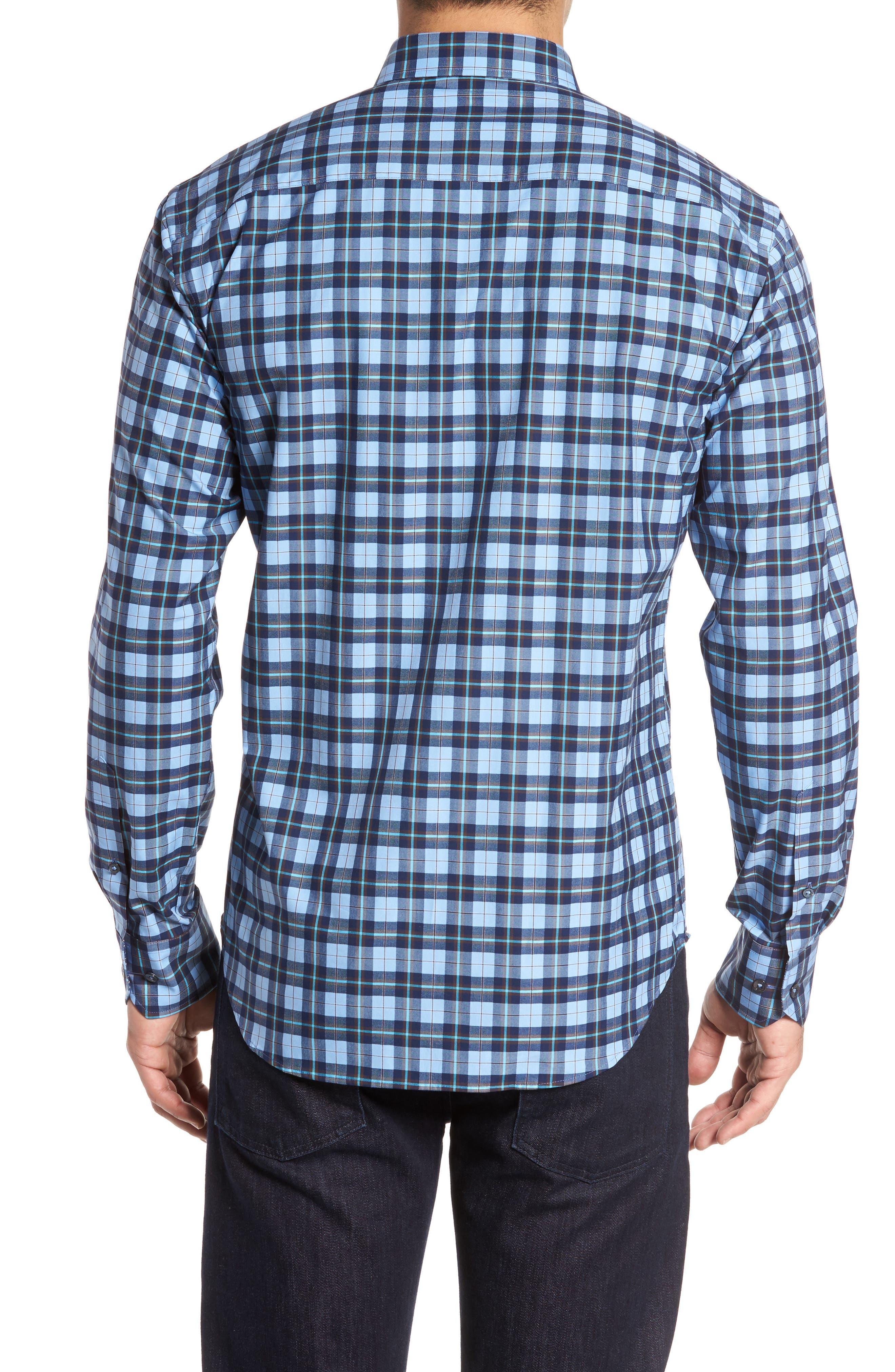 Trim Fit Check Sport Shirt,                             Alternate thumbnail 2, color,                             459