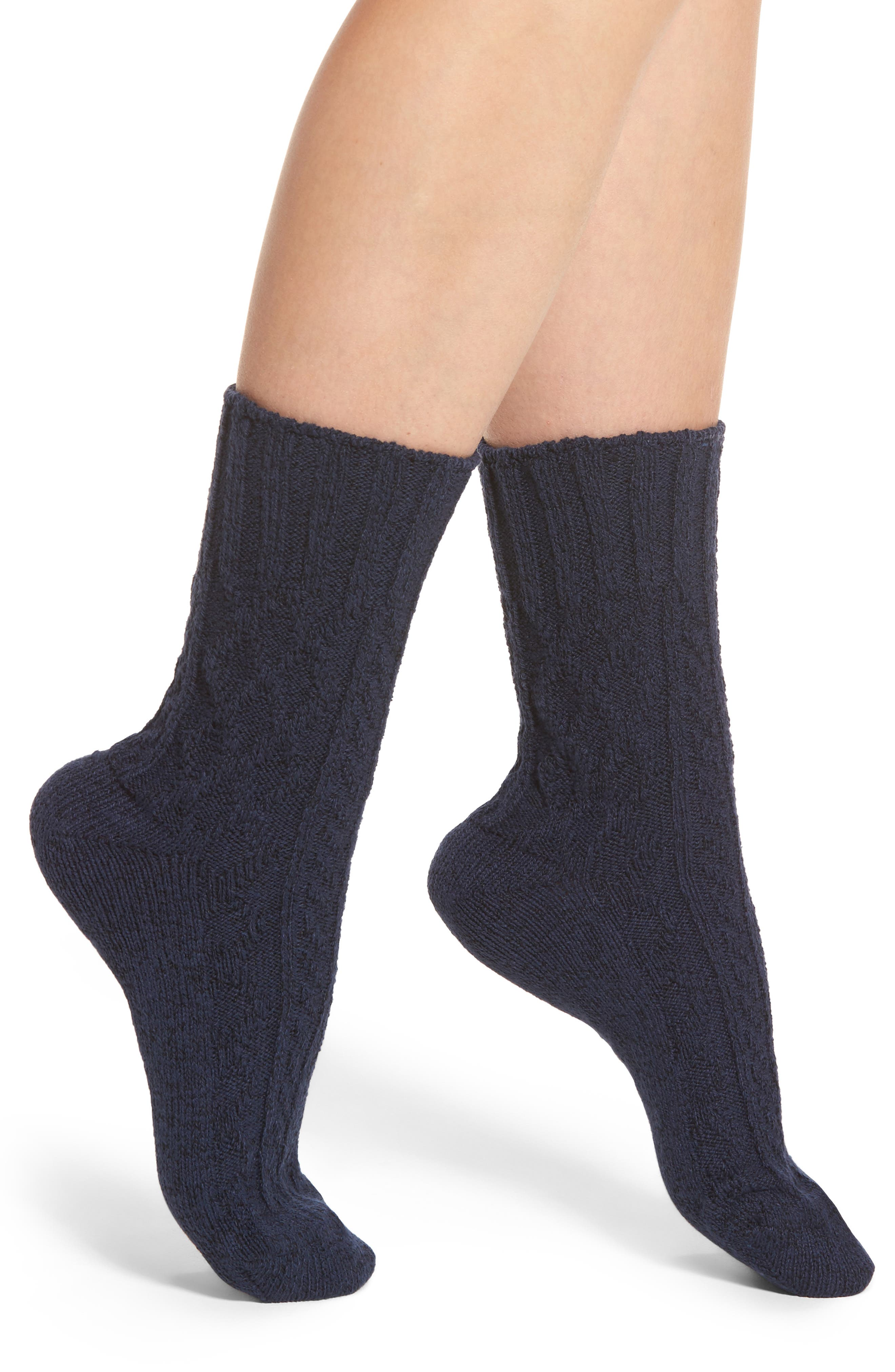Marled Cable Crew Socks,                         Main,                         color, 400