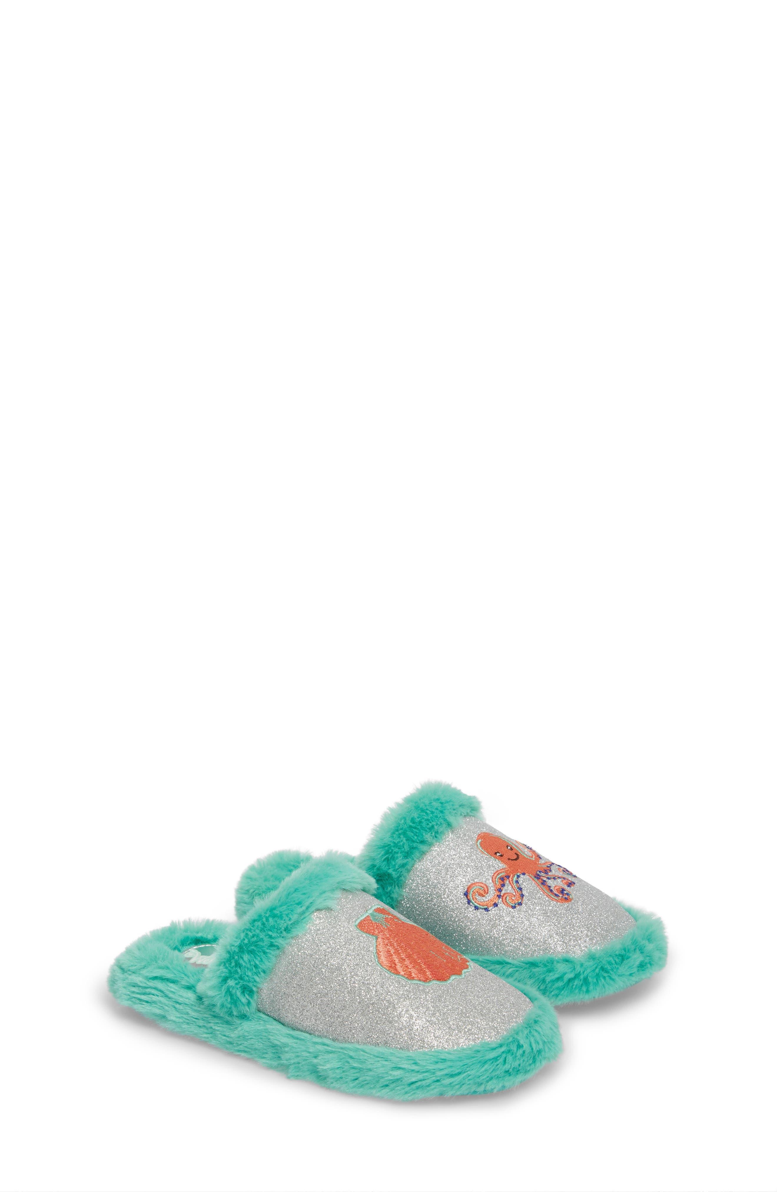 Camille Faux Fur Glitter Slipper,                         Main,                         color, 040