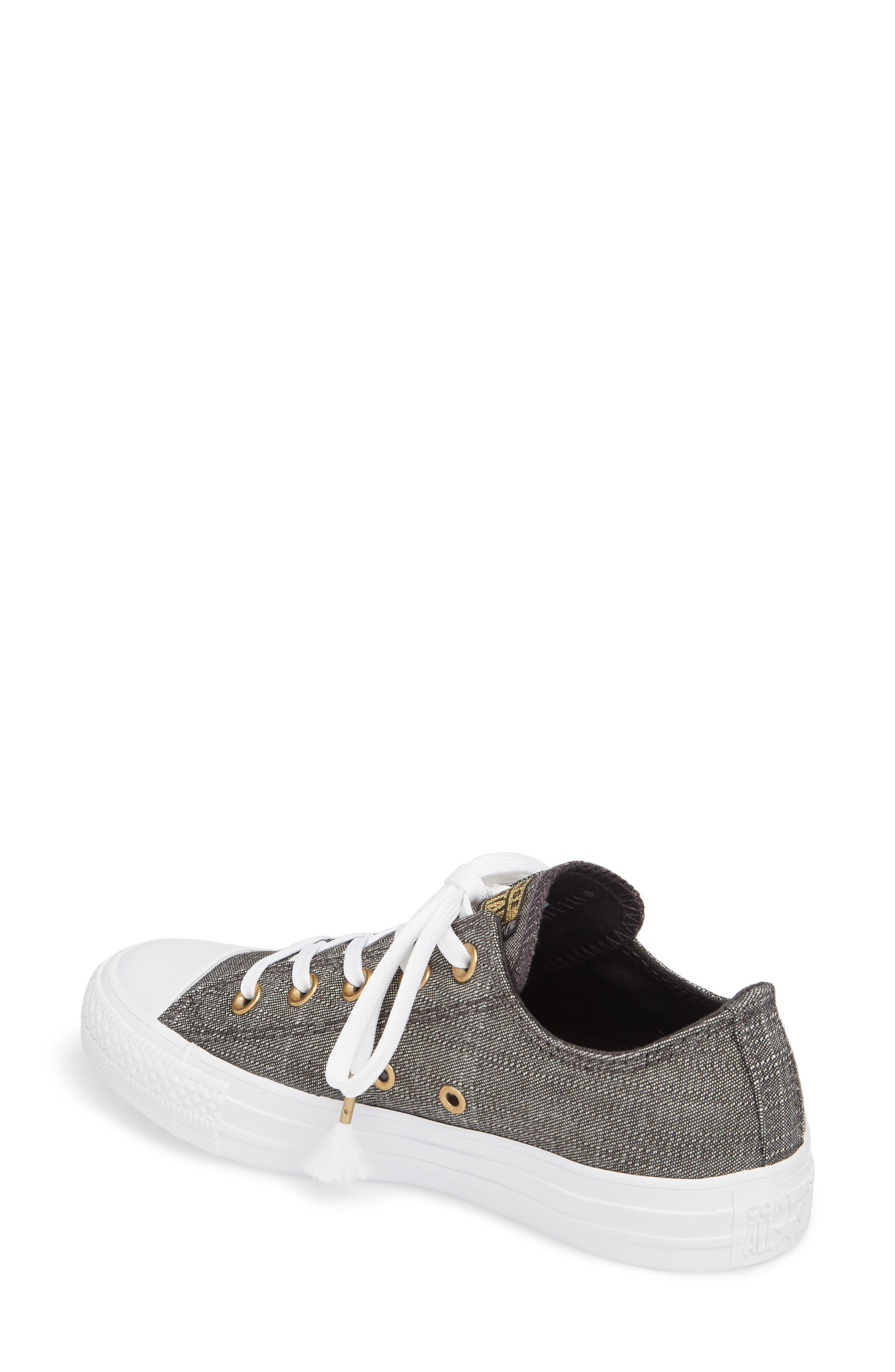 Chuck Taylor<sup>®</sup> All Star<sup>®</sup> Washed Linen Low Top Sneaker,                             Alternate thumbnail 2, color,                             006