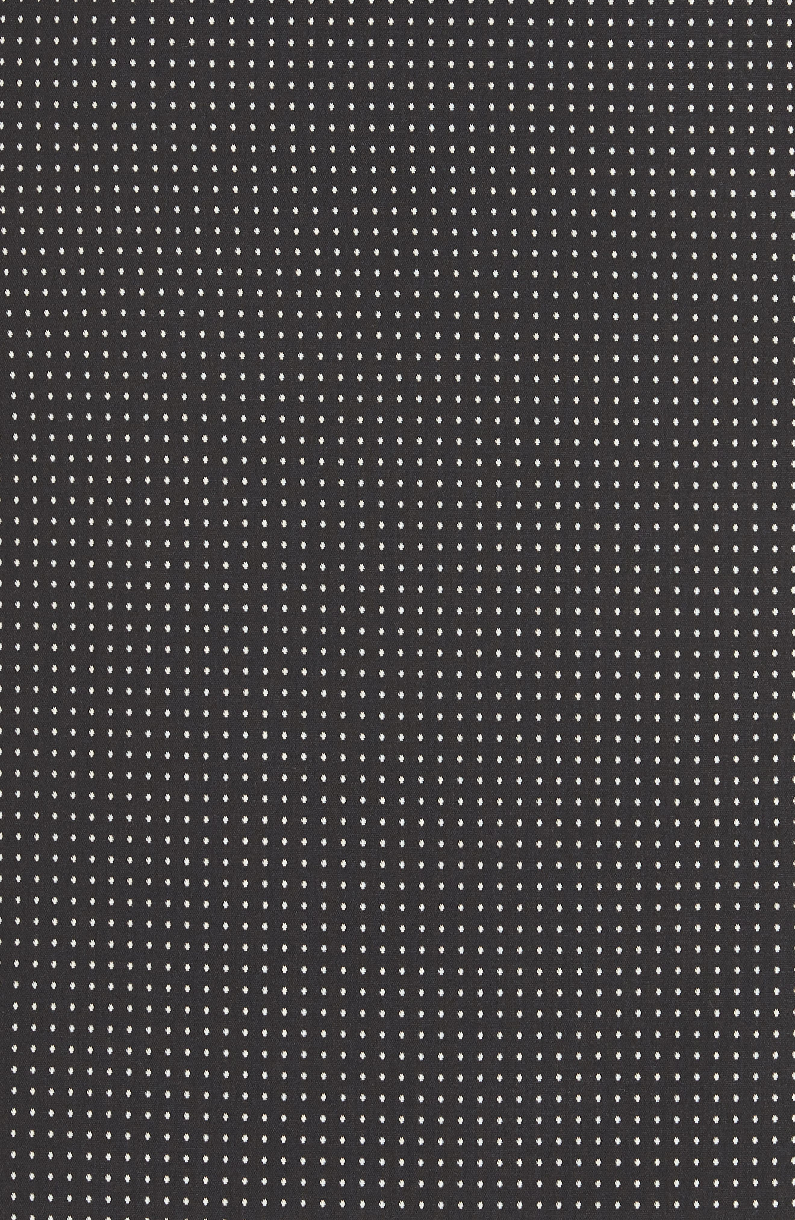 Vumano Dot Dessin Stretch Suit Skirt,                             Alternate thumbnail 5, color,                             BLACK FANTASY