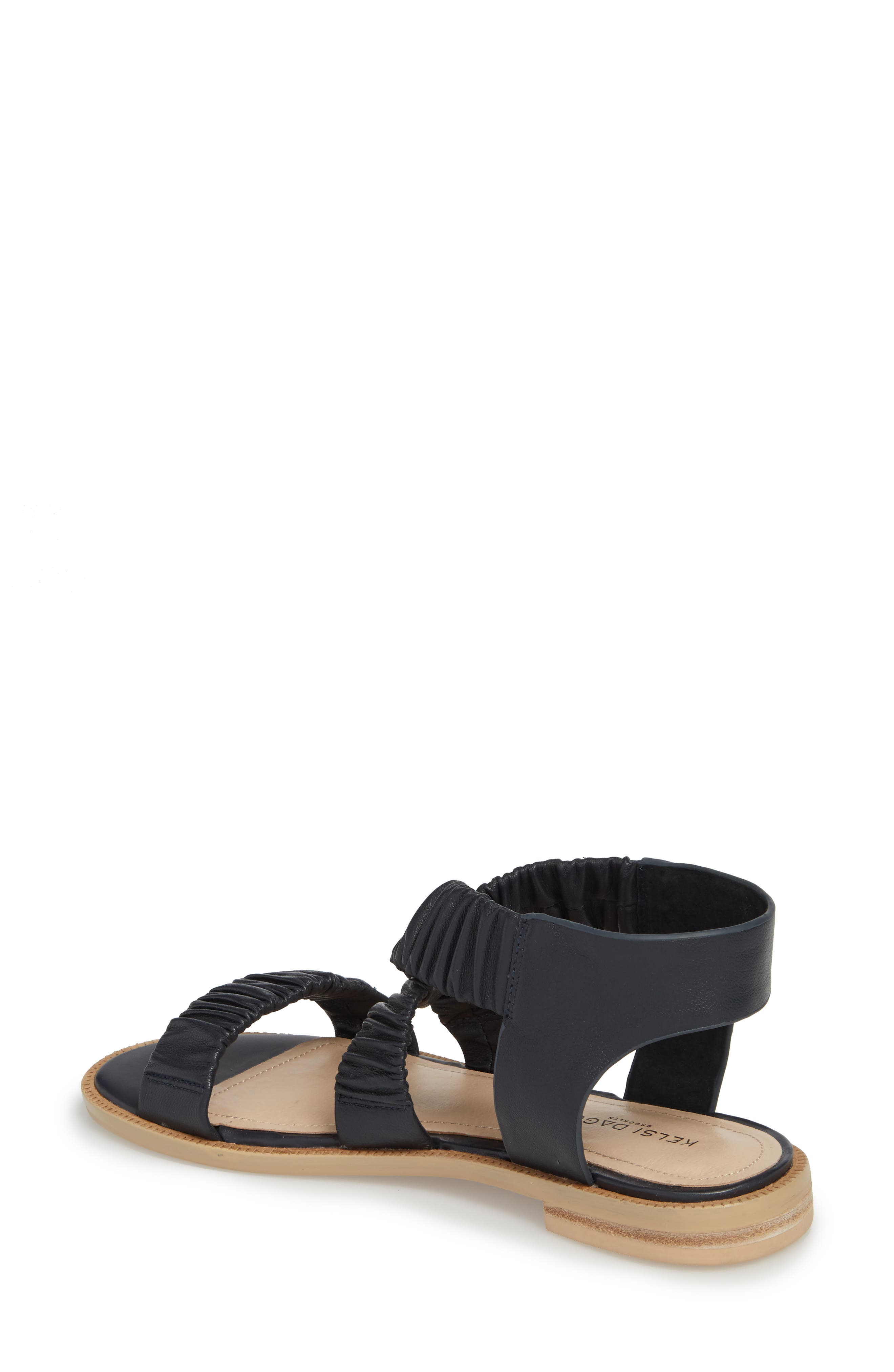 Ryder Pleated Flat Sandal,                             Alternate thumbnail 6, color,