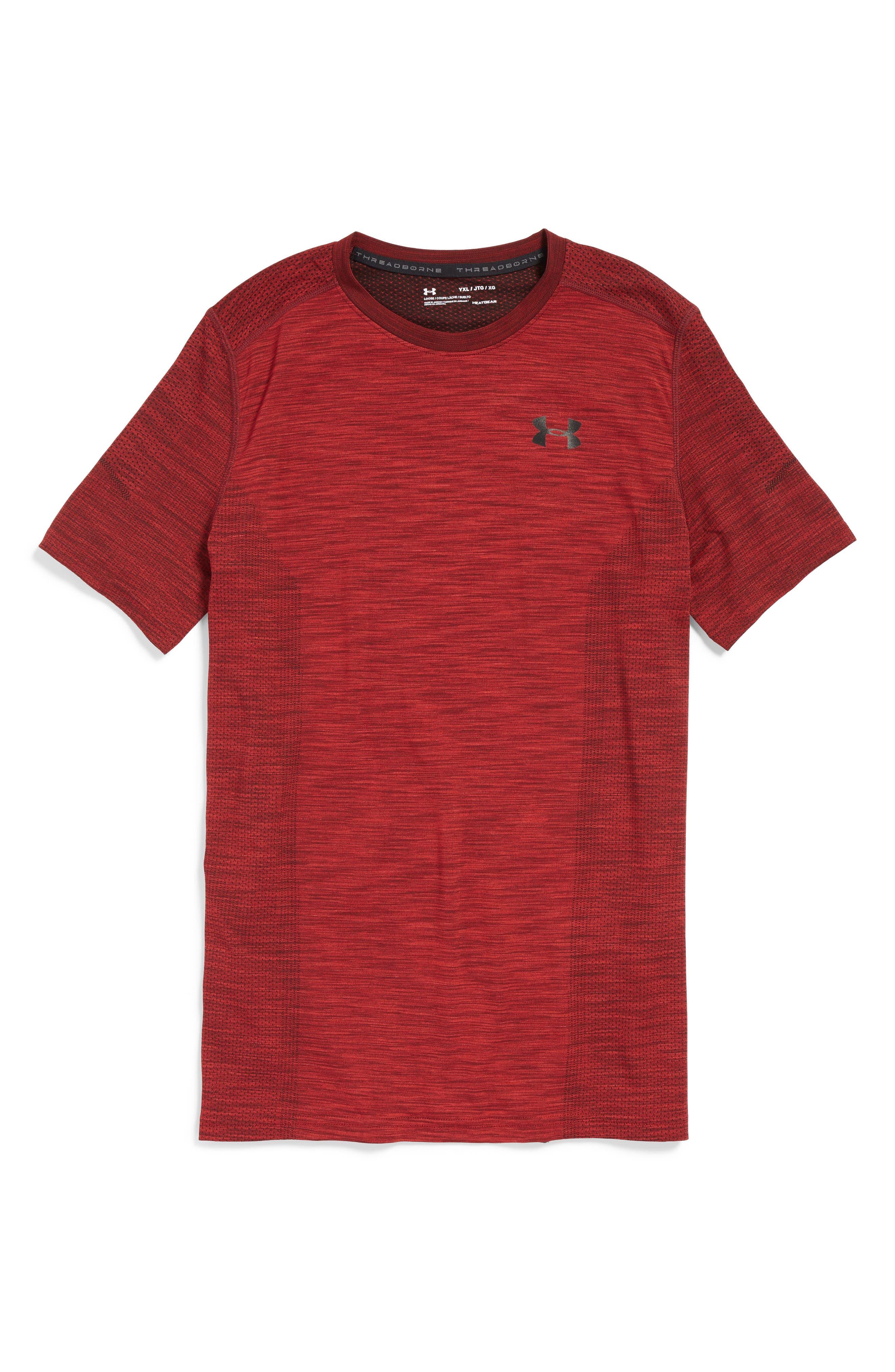 Threadborne HeatGear<sup>®</sup> Shirt,                             Main thumbnail 4, color,