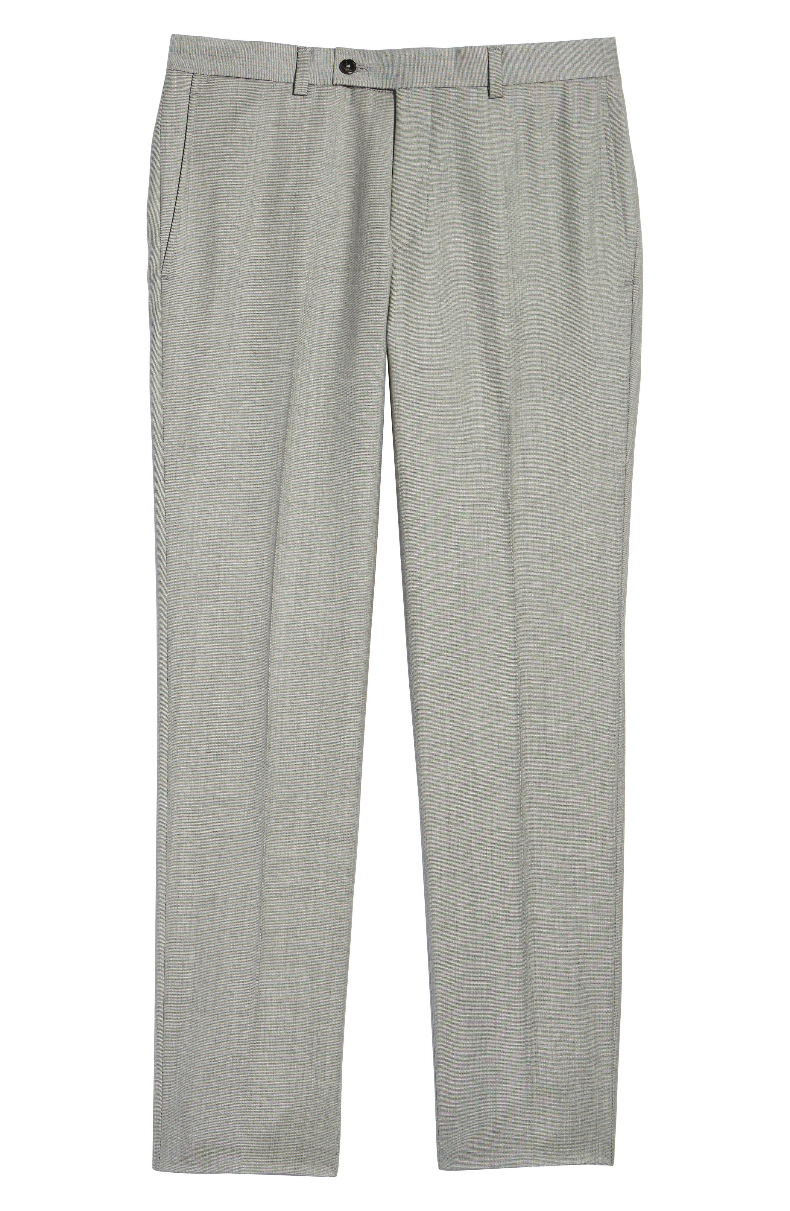 Jefferson Flat Front Wool Trousers,                             Alternate thumbnail 34, color,