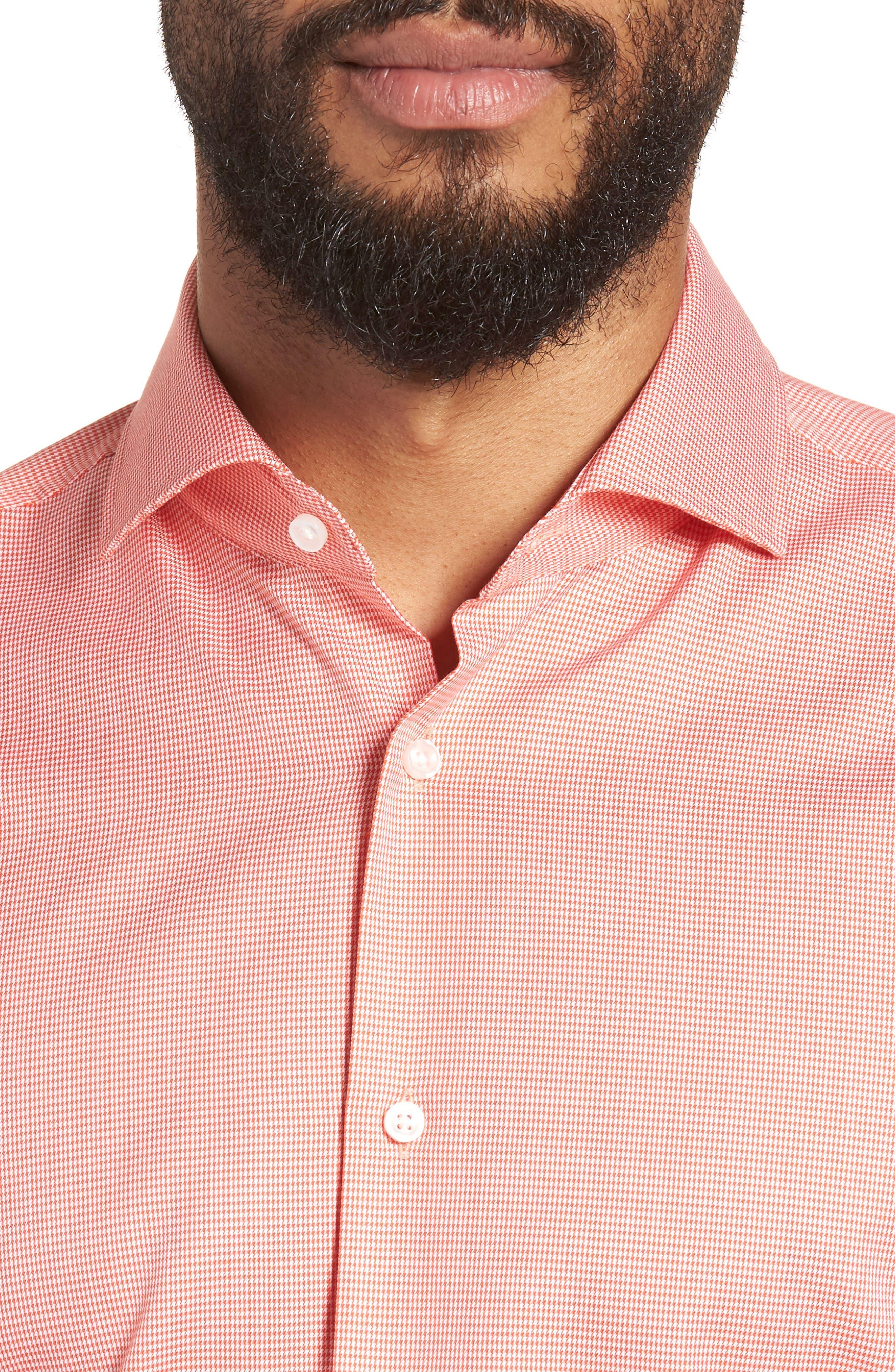 Jason Slim Fit Houndstooth Dress Shirt,                             Alternate thumbnail 2, color,                             813