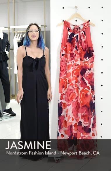 Floral Print Halter Maxi Dress, sales video thumbnail