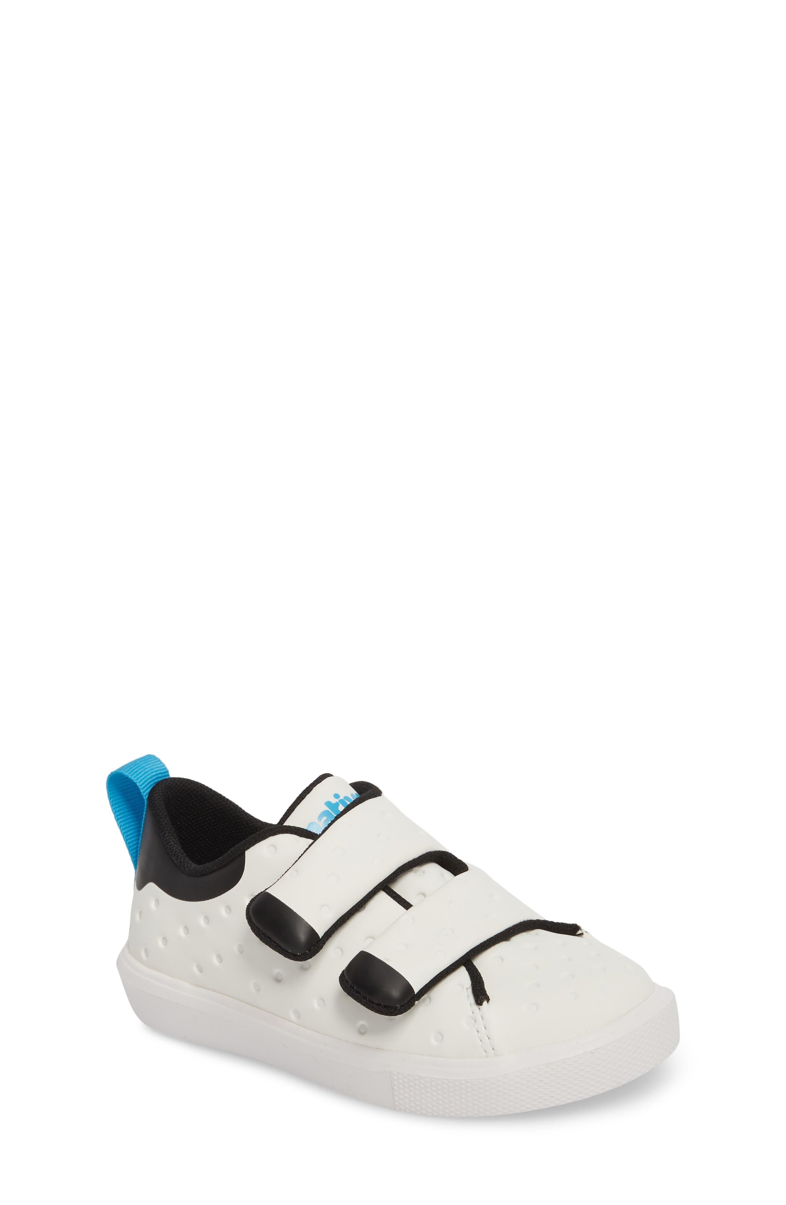 Monaco Sneaker,                         Main,                         color, SHELL WHITE/ JIFFY BLACK