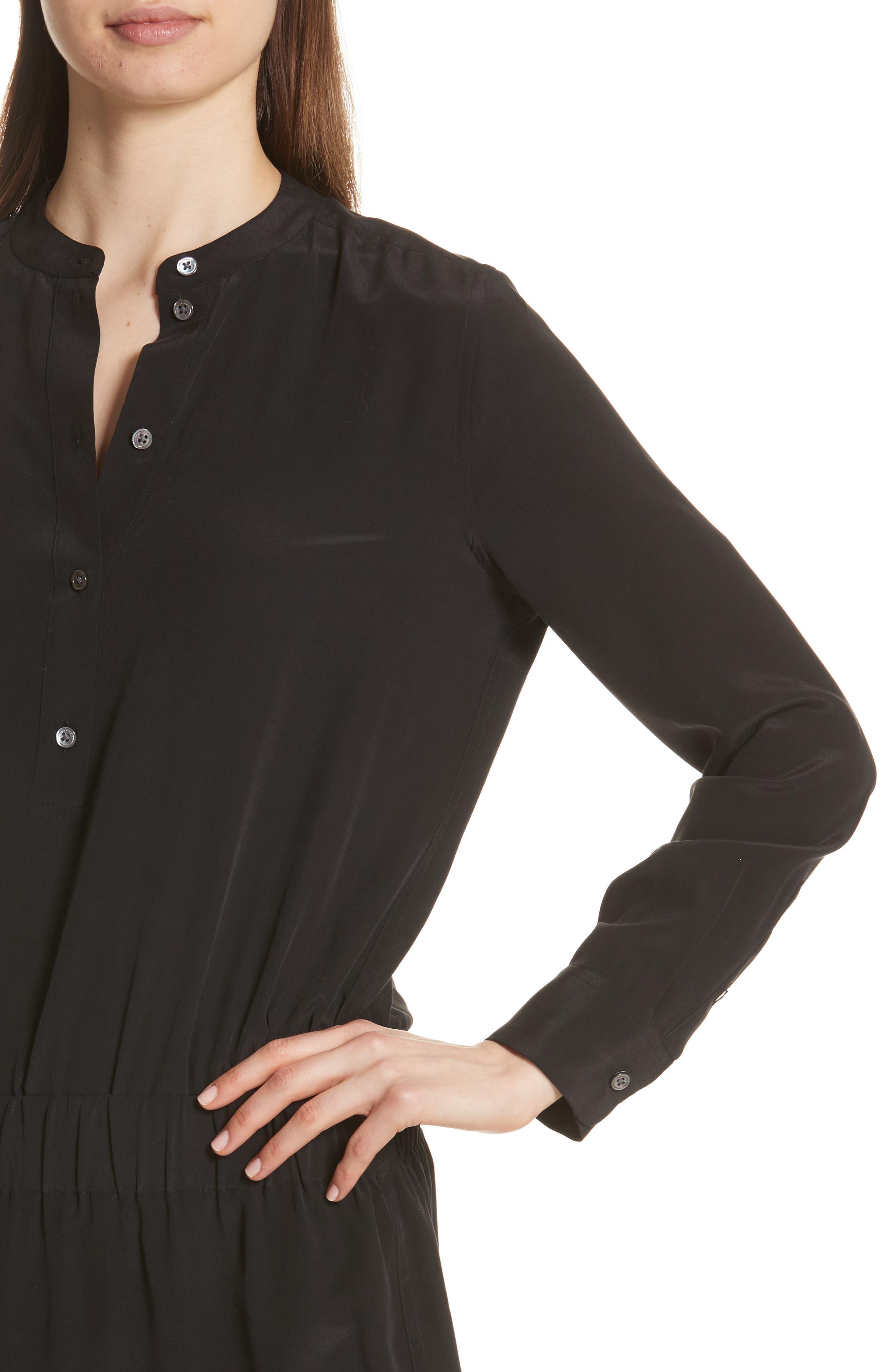 Chelsea Silk Shirtdress,                             Alternate thumbnail 4, color,                             003