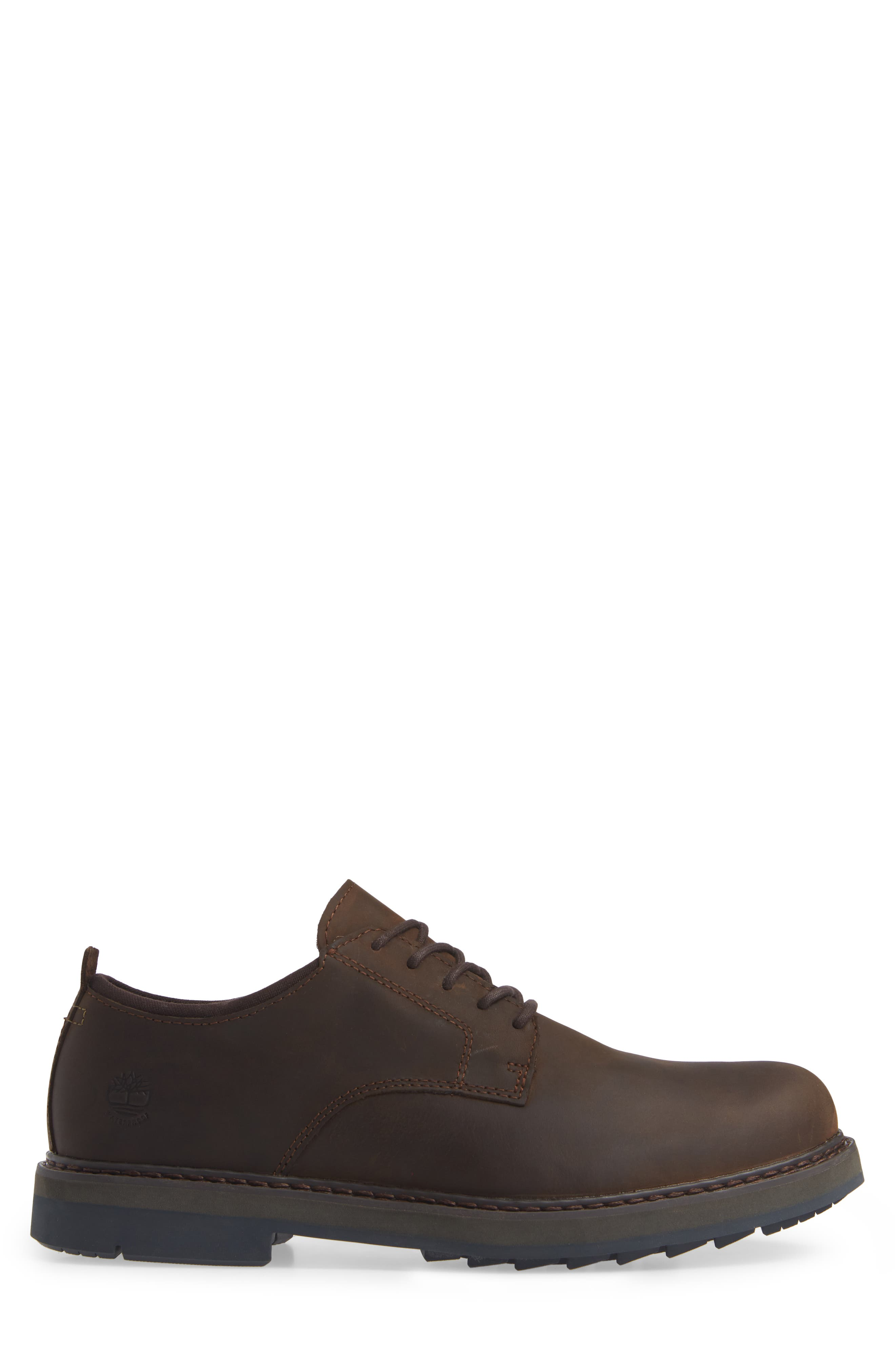 Squall Canyon Waterproof Plain Toe Derby,                             Alternate thumbnail 3, color,                             BROWN LEATHER