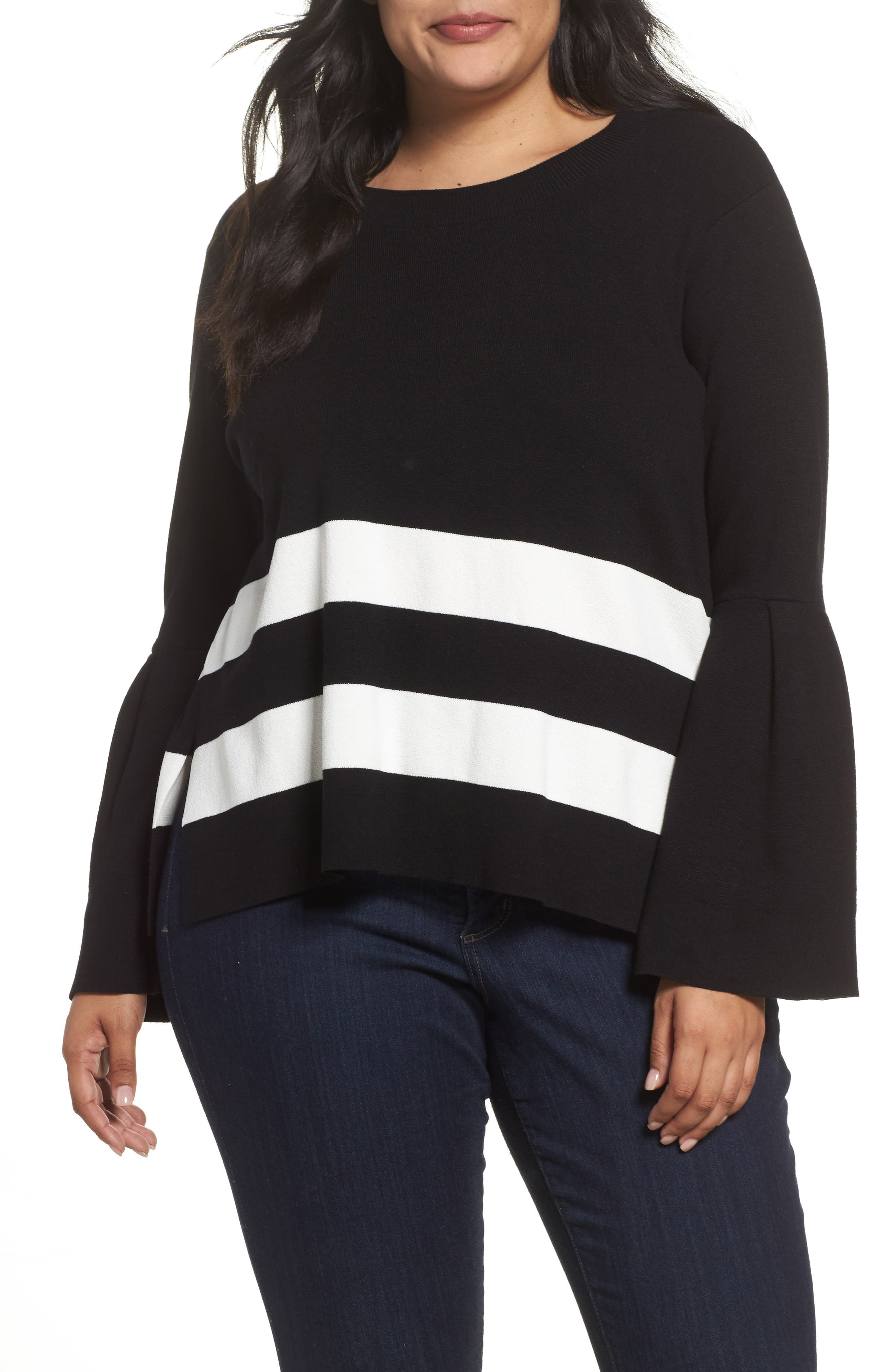 Bow Back Stripe Top,                         Main,                         color,