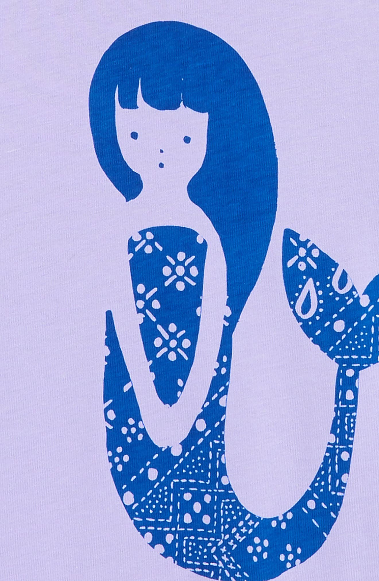 Mermaid Graphic Tee,                             Alternate thumbnail 2, color,                             LILAC MIST
