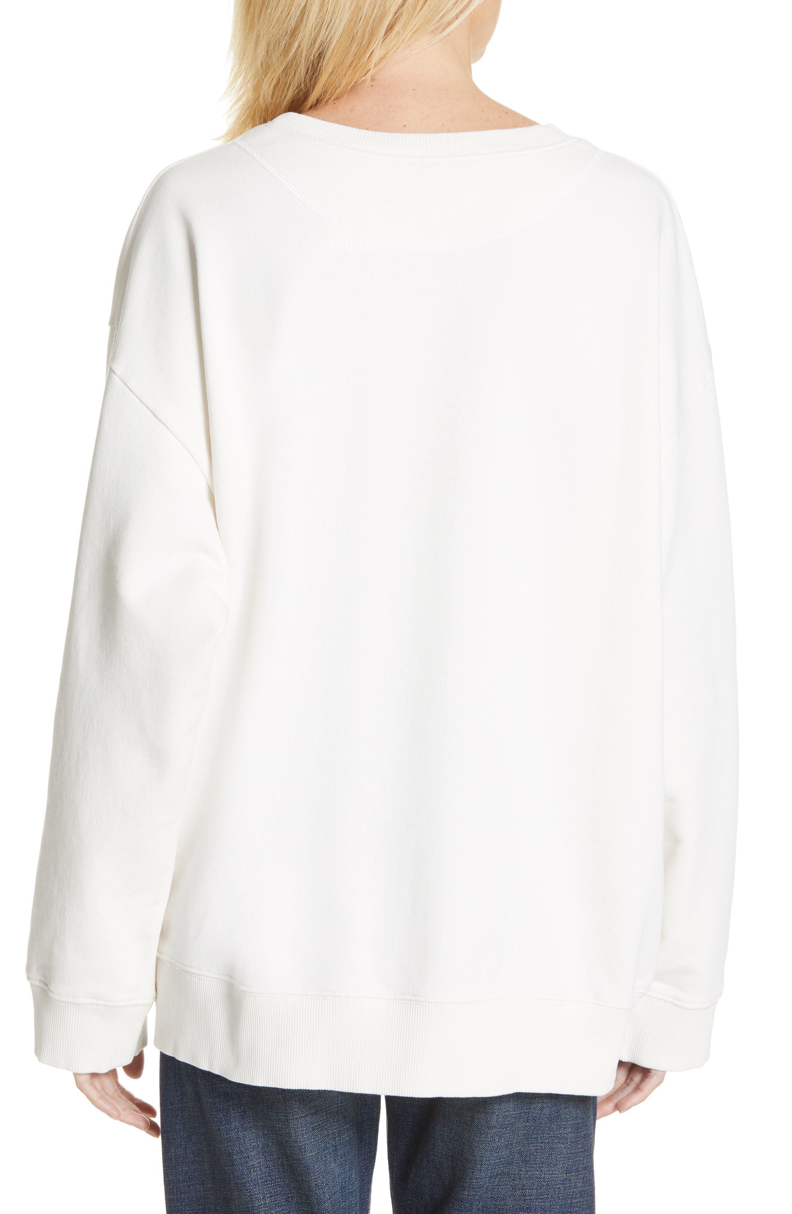 MM6 MAISON MARGIELA,                             Kidswear Mascot Graphic Sweatshirt,                             Alternate thumbnail 2, color,                             OFF WHITE