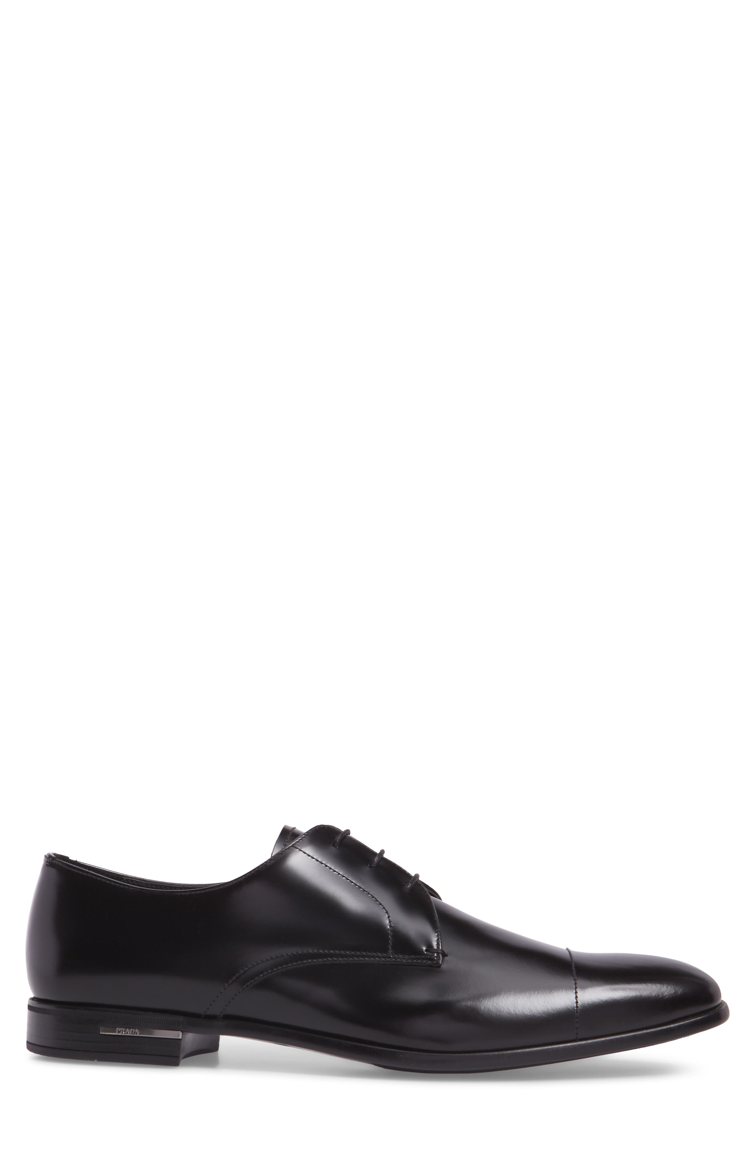 Cap Toe Derby,                             Alternate thumbnail 3, color,                             BLACK