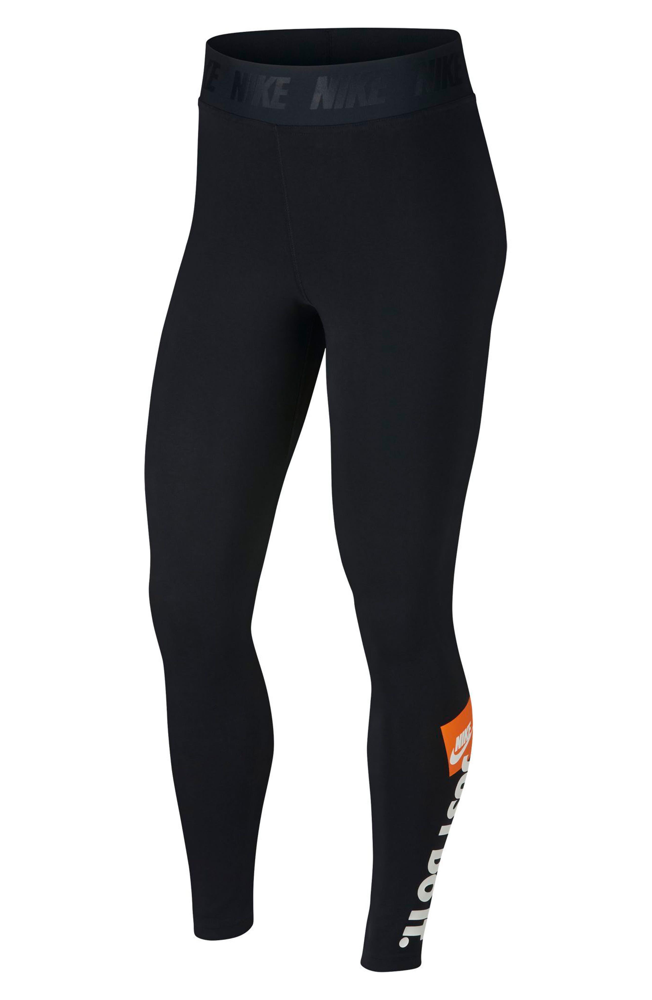 Sportswear Just Do It High Rise Women's Leggings,                         Main,                         color, BLACK