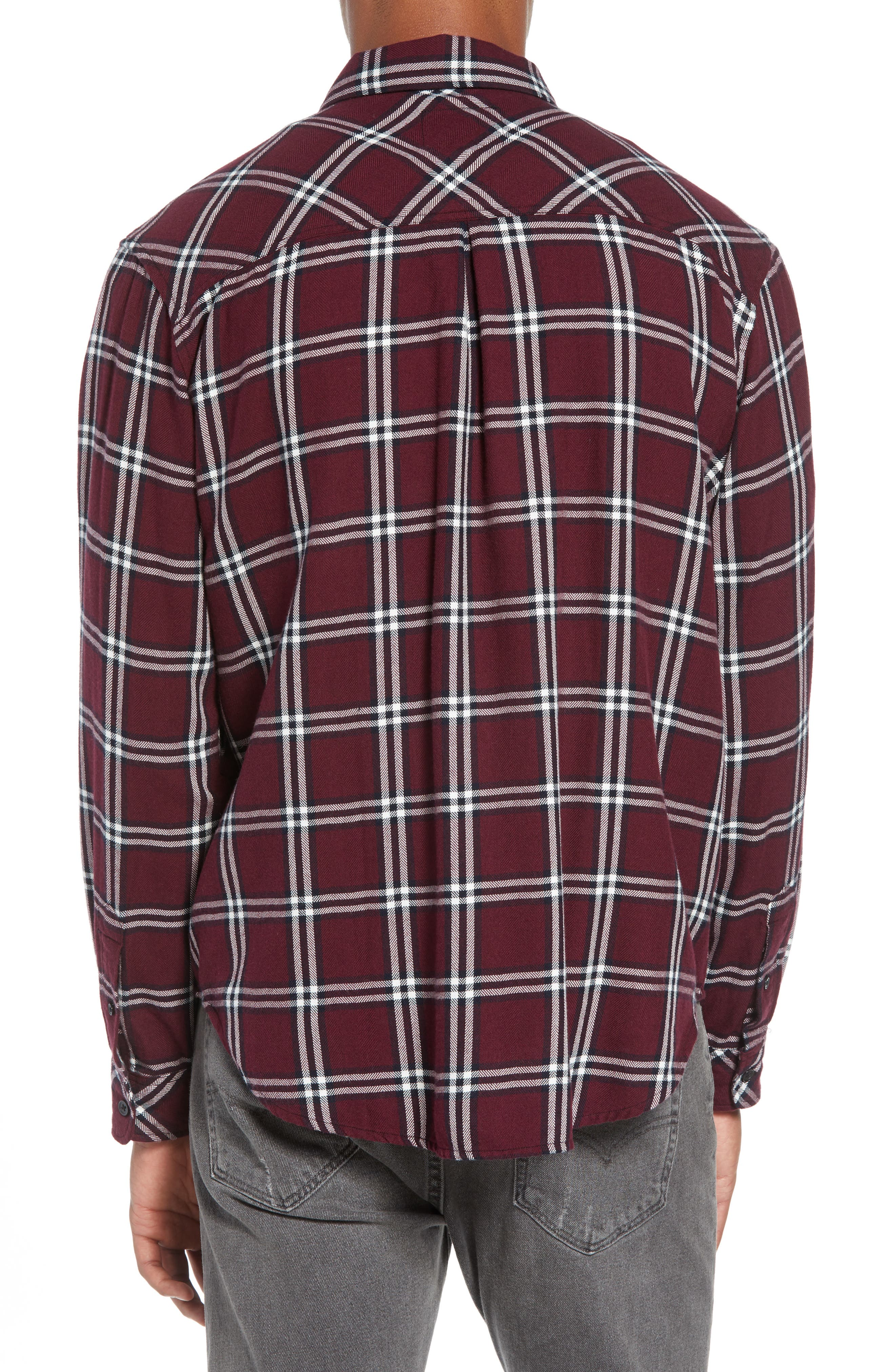 Lennox Regular Fit Plaid Sport Shirt,                             Alternate thumbnail 3, color,                             001