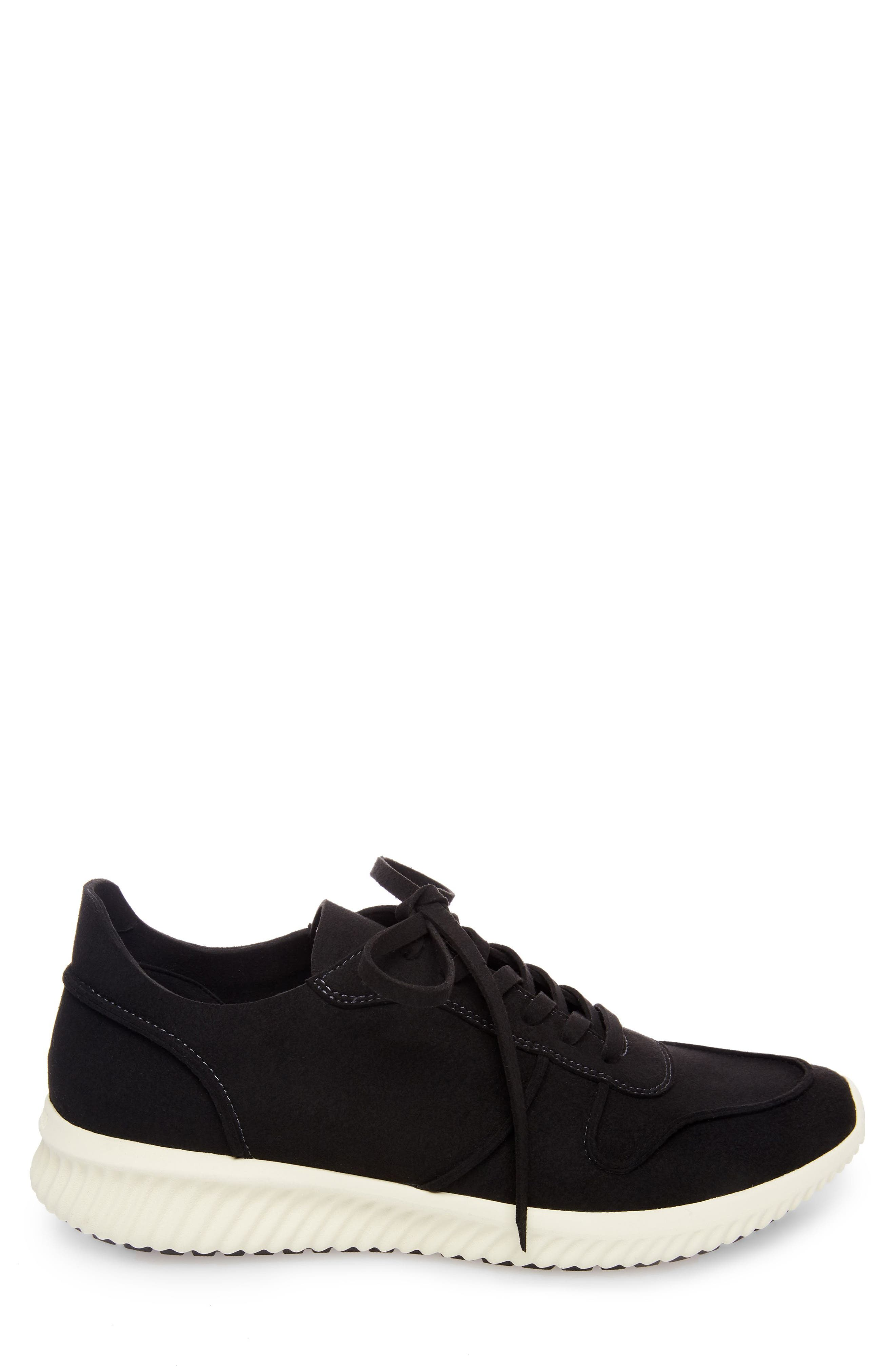 Rolf Low Top Sneaker,                             Alternate thumbnail 3, color,                             BLACK LEATHER