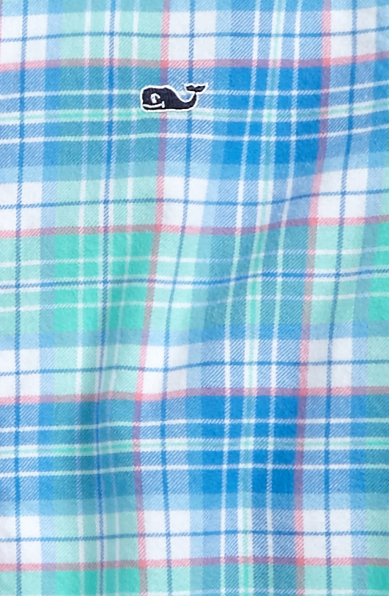 Sandspar Plaid Whale Flannel Shirt,                             Alternate thumbnail 2, color,